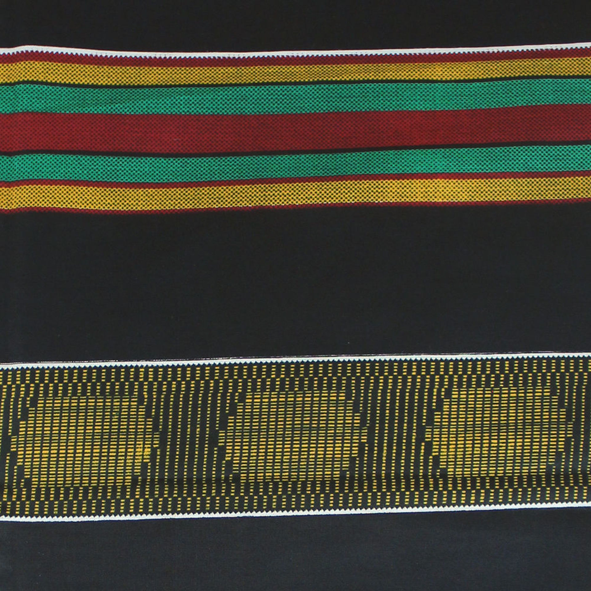 Picture of African Kente #4 BLACK Fabric 1 Yard