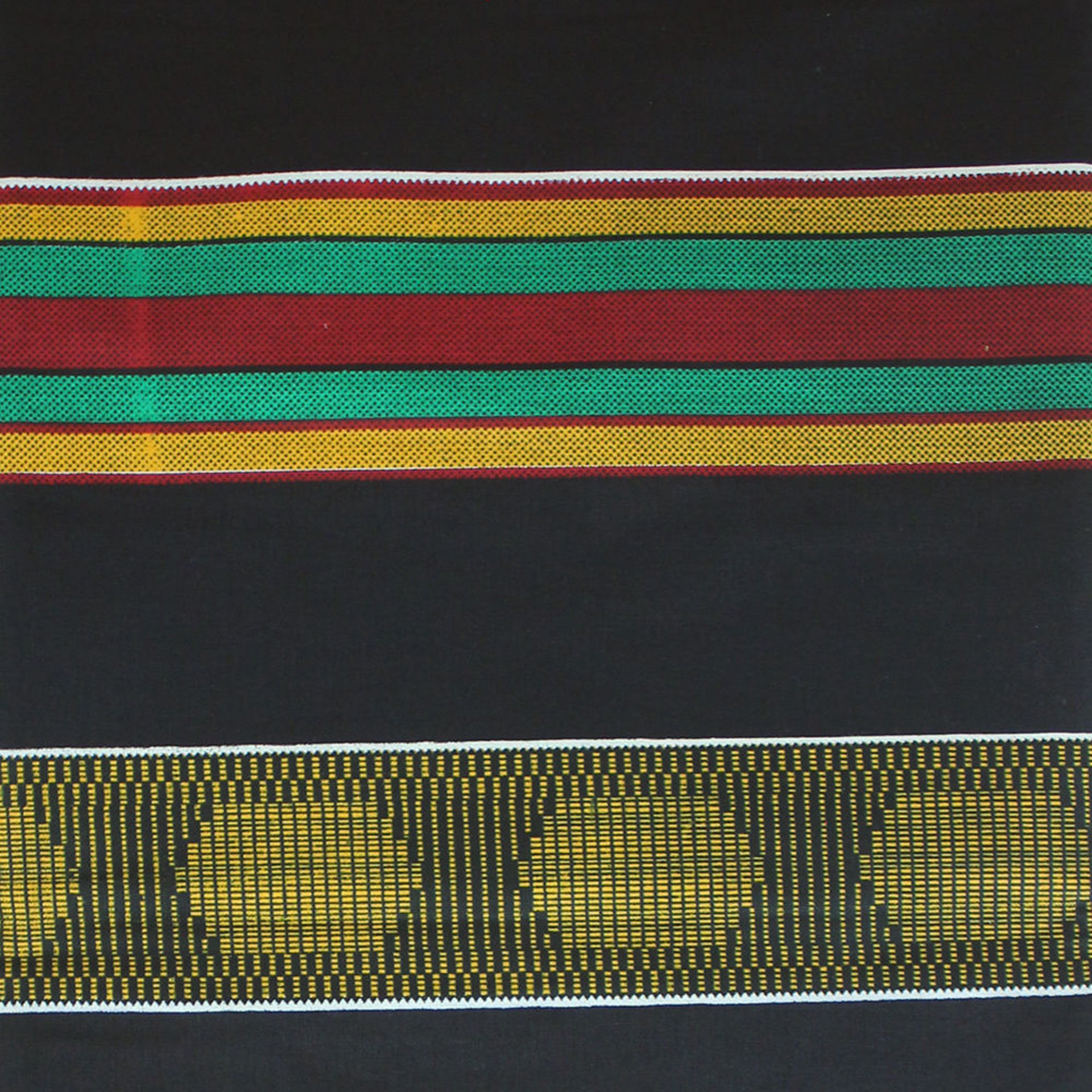 Picture of African Kente #4 BLACK Fabric 3 Yards
