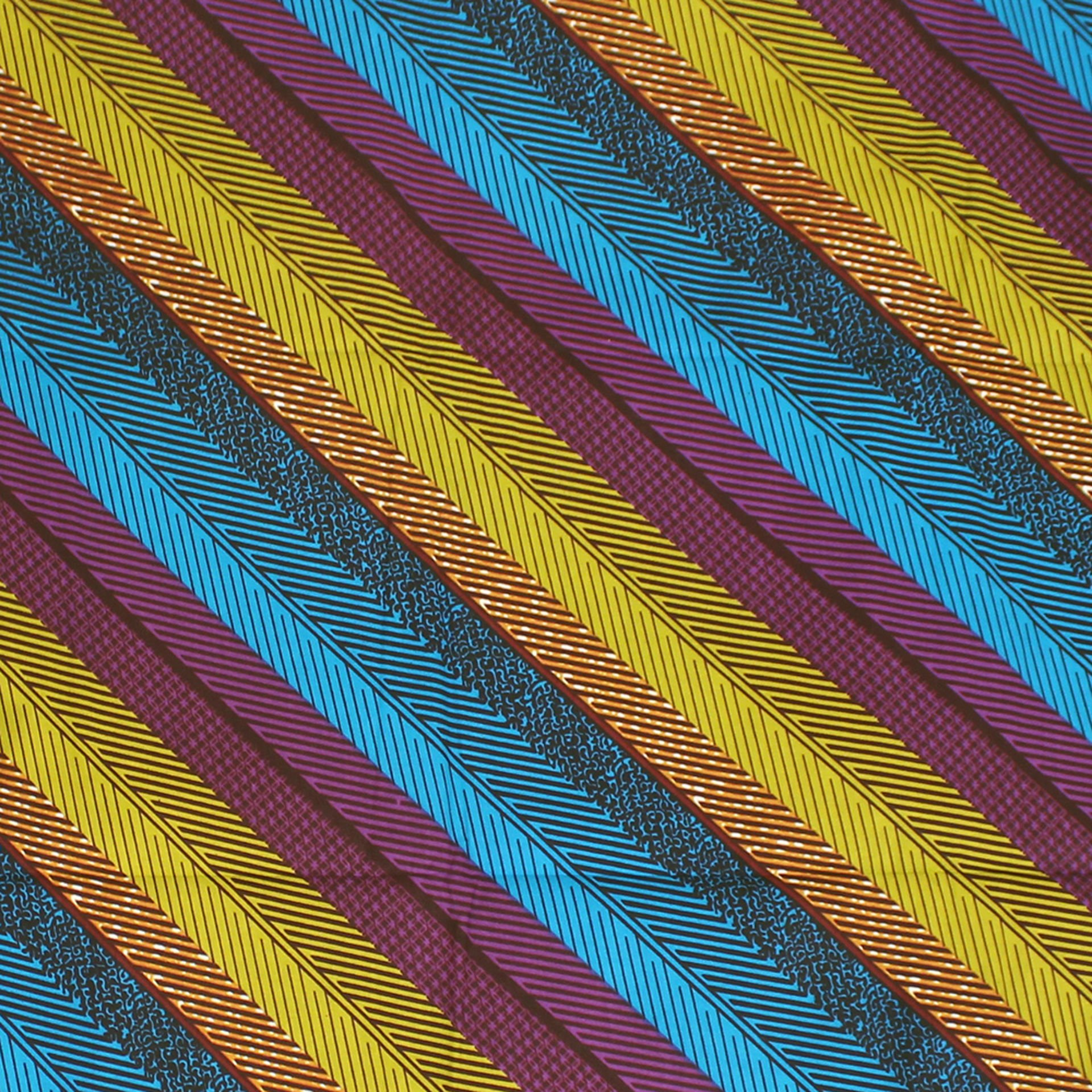 Picture of African Print Stripe Fabric 12 Yards