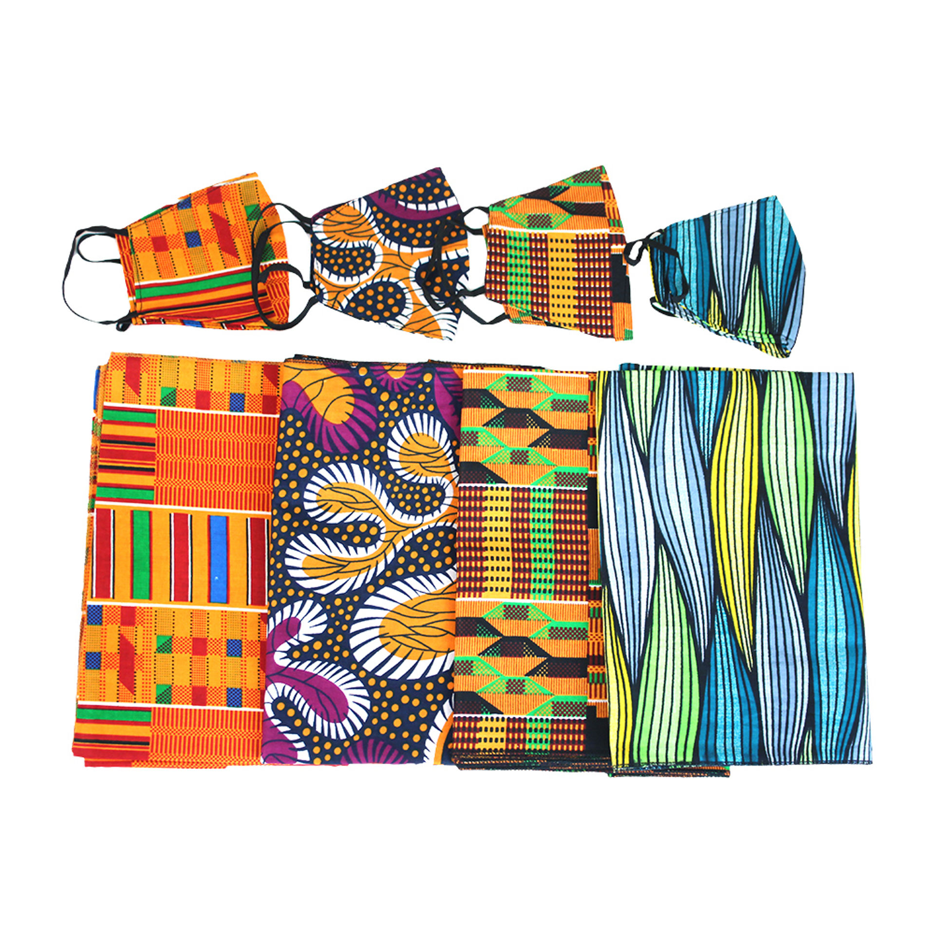 Picture of Set Of 4 Head Wrap & Mask Sets ASSORTED