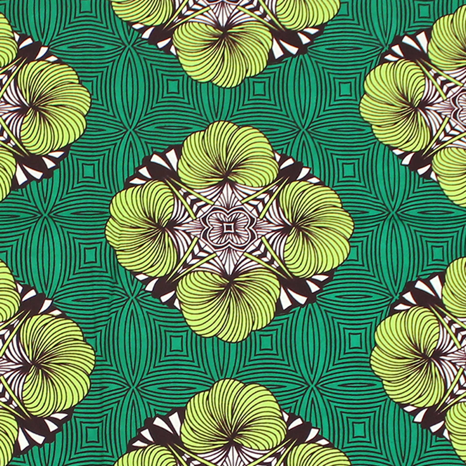 Picture of Green African Print Fabric
