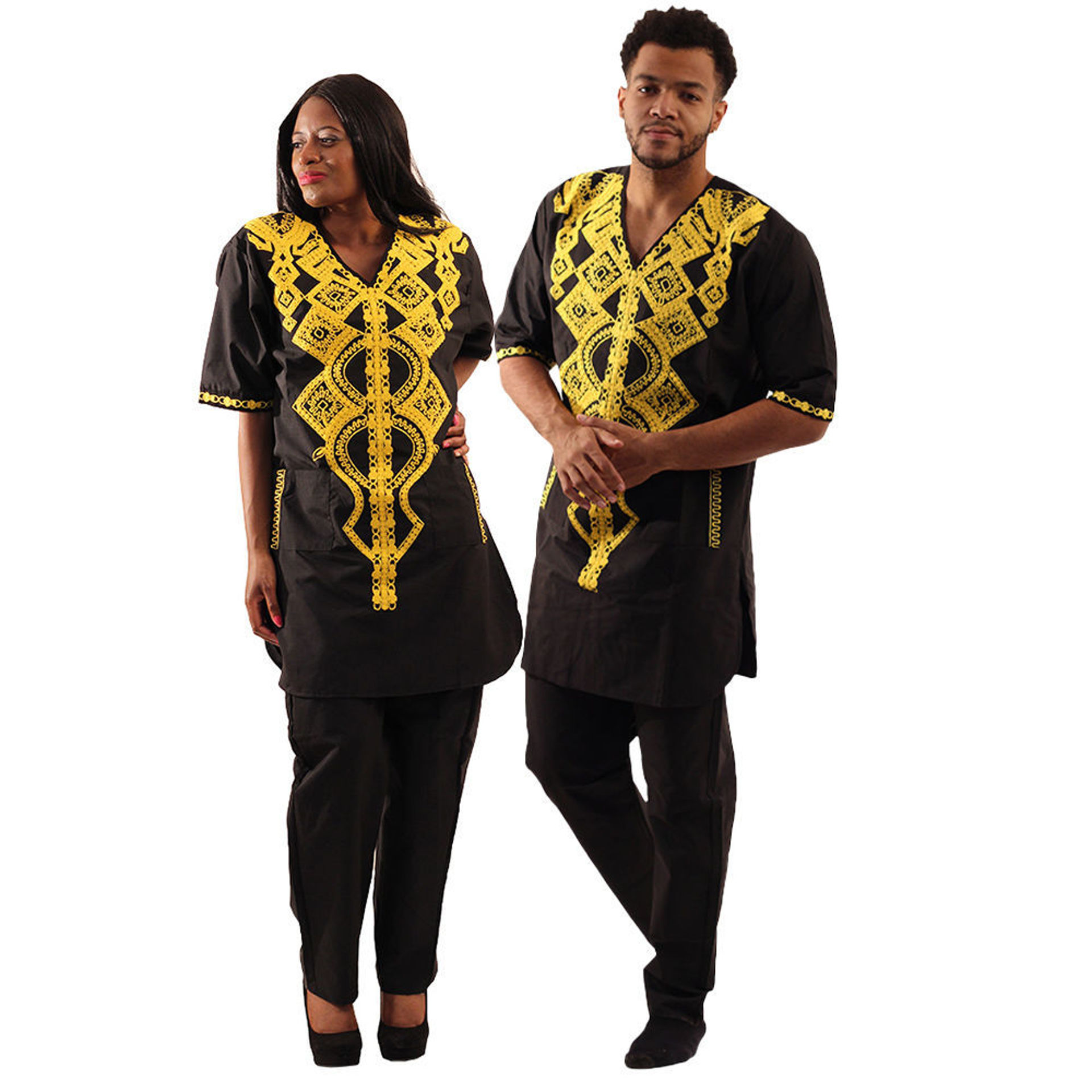 Picture of Embroidered Black Pant Set