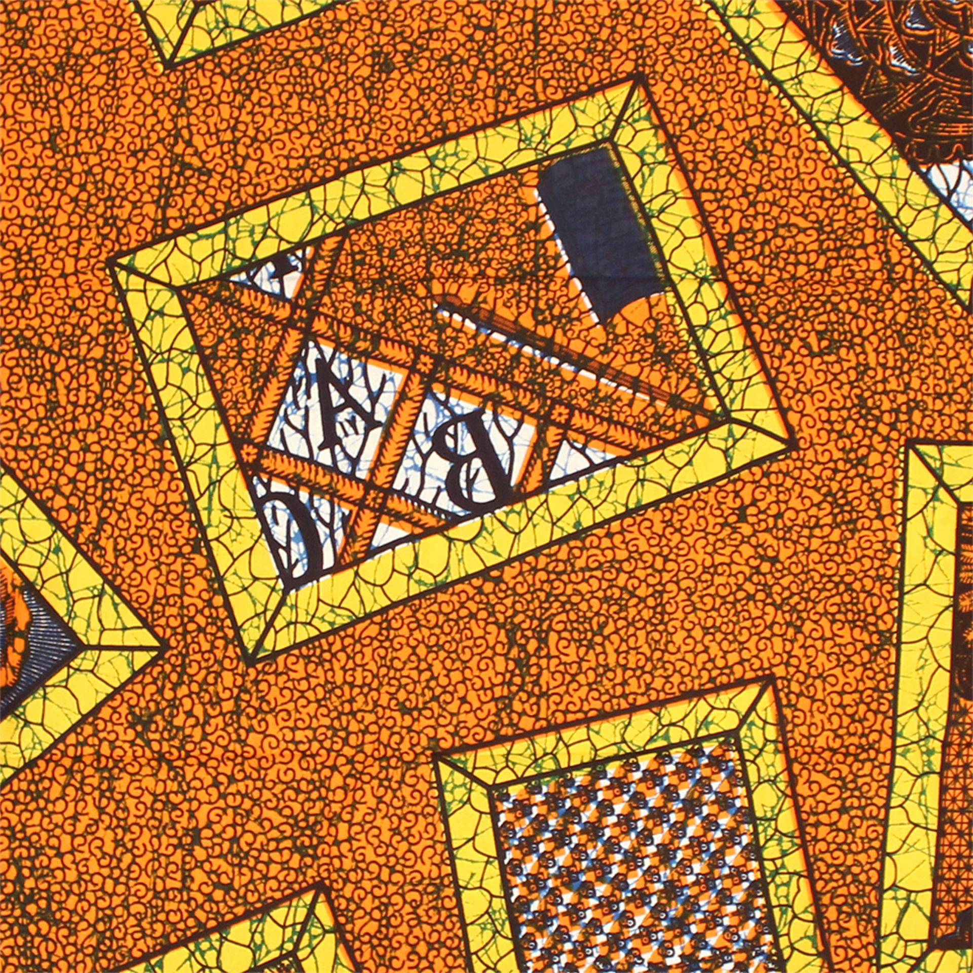 Picture of Orange African Print Fabric