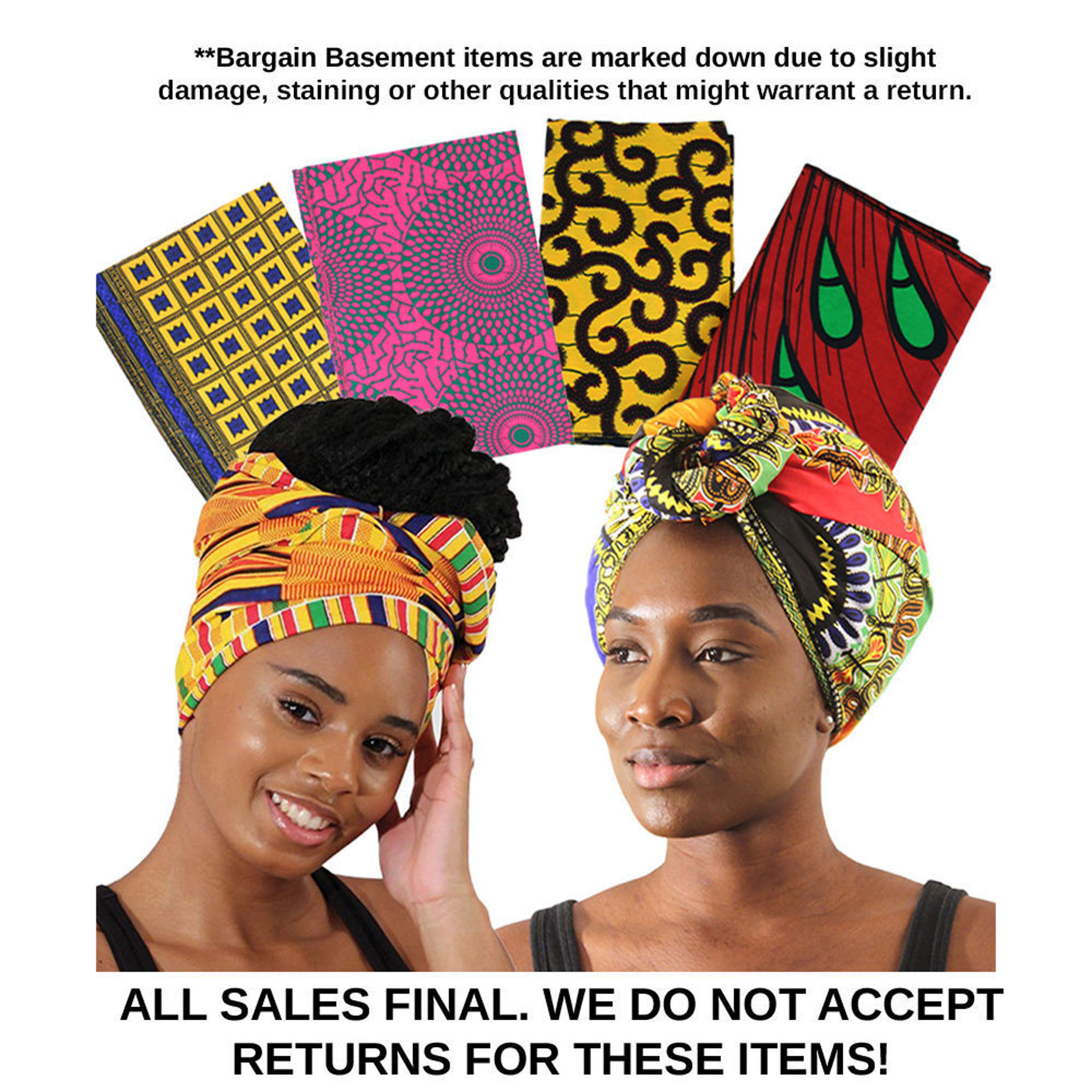 Picture of DAMAGED Set Of 6 ASSORTED Head Wraps