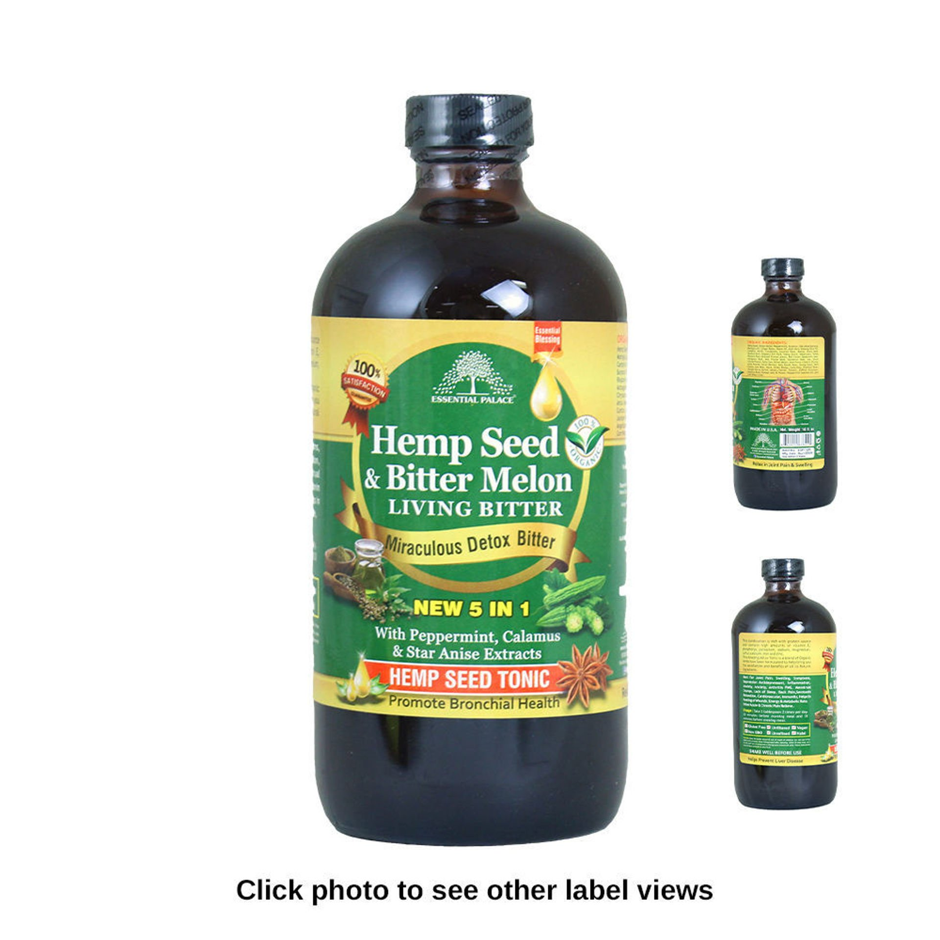 Picture of Hemp Seed & Melon Living Bitter - 16 oz.