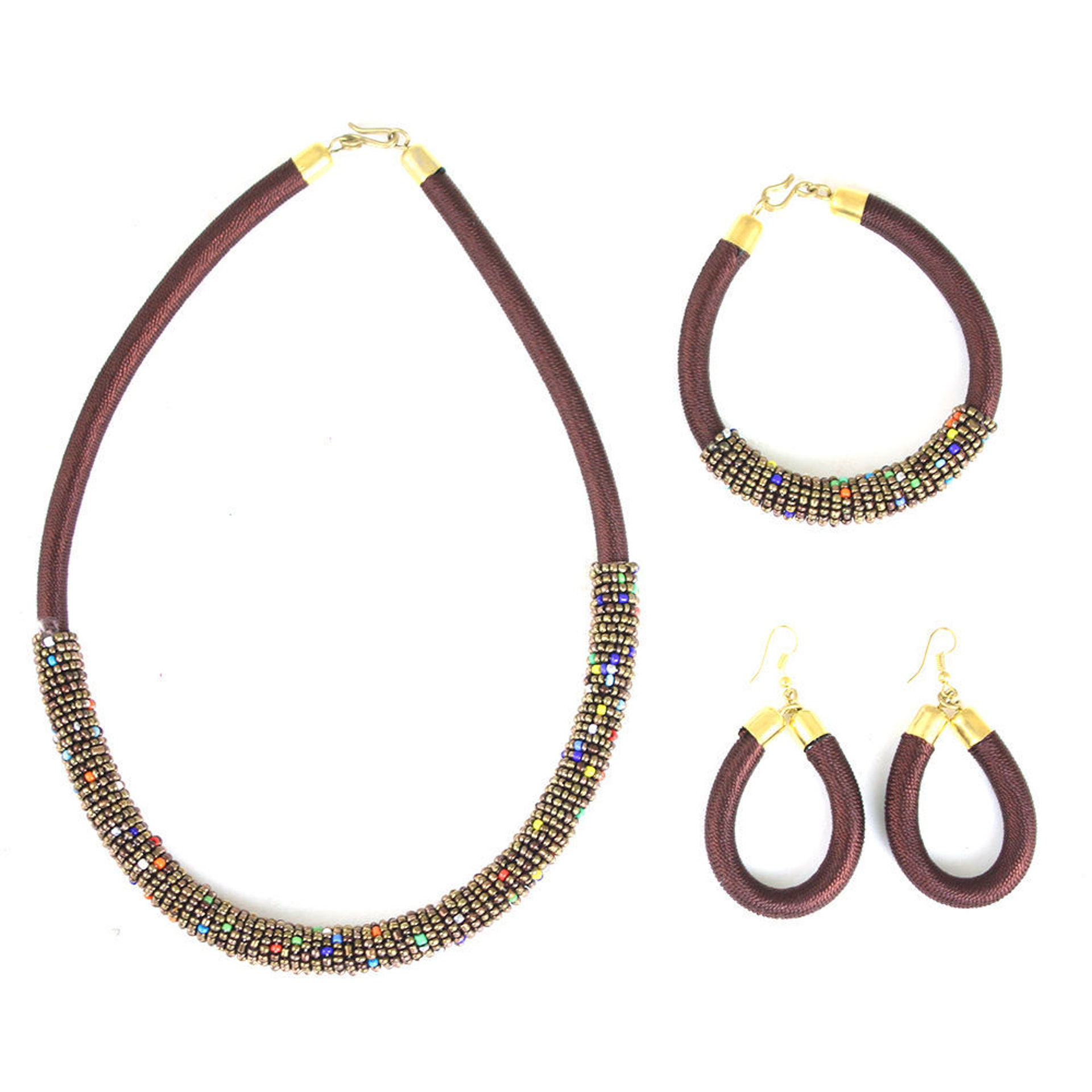 Picture of Brown Kenyan Necklace Set