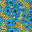 Picture of Blue Flower Print Fabric