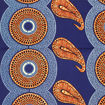 Picture of Blue African Tribal Print Fabric