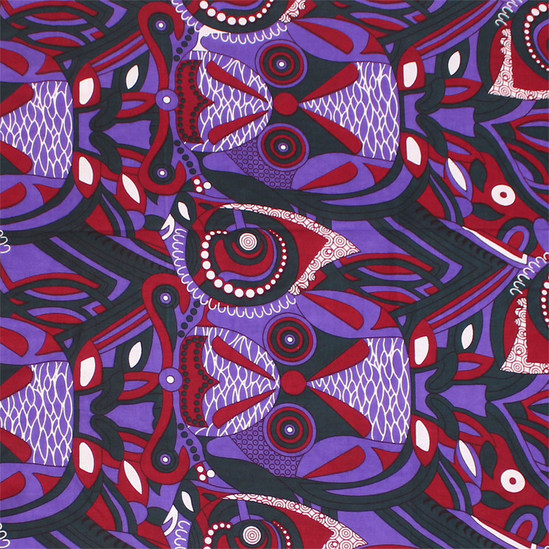 Picture of Purple Maroon African Print Fabric