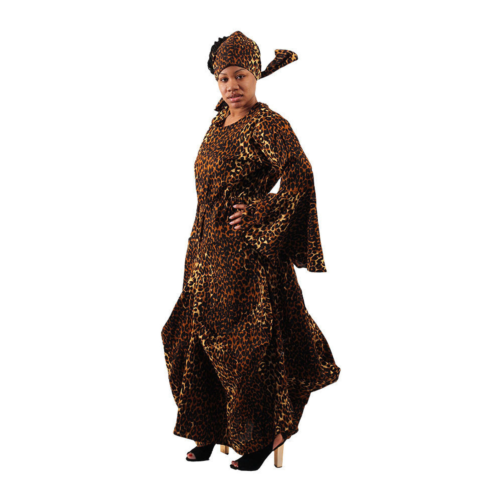 Picture of Leopard Print Flared Dress