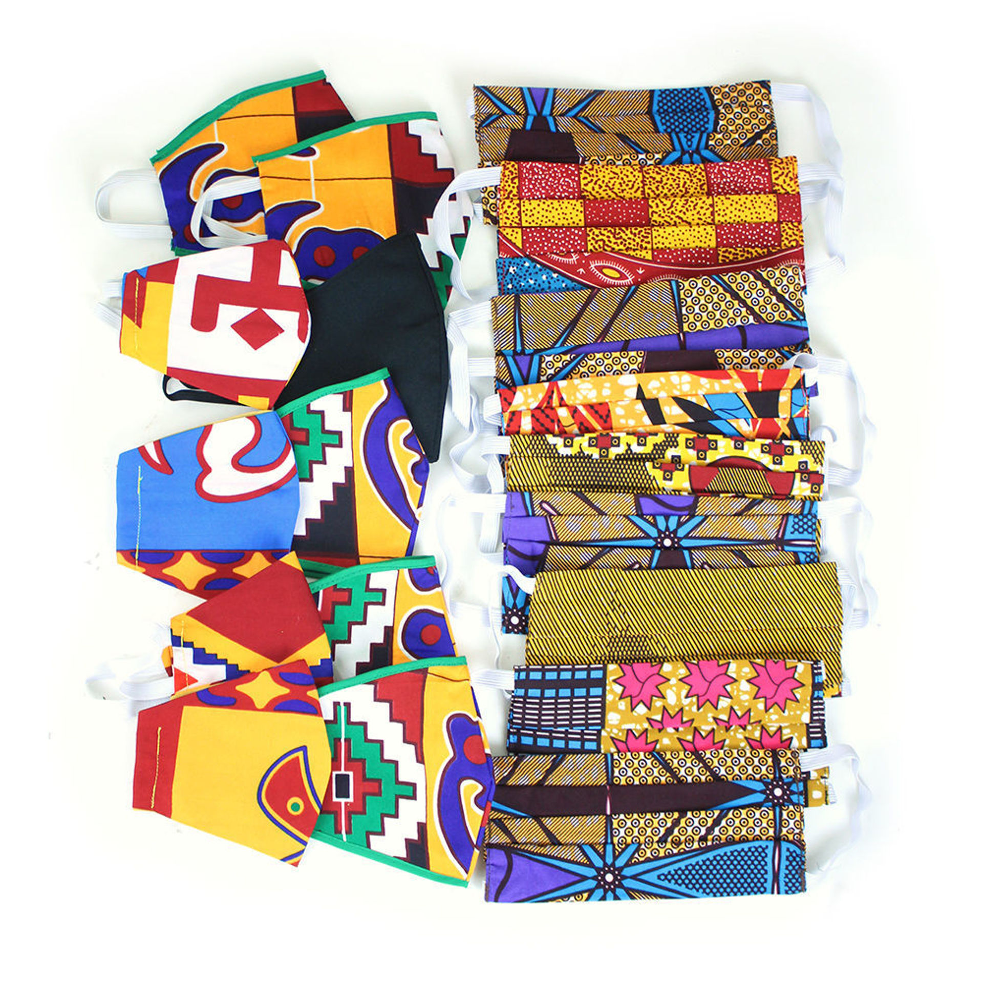 Picture of Set Of 20 Handmade Cloth Face Masks