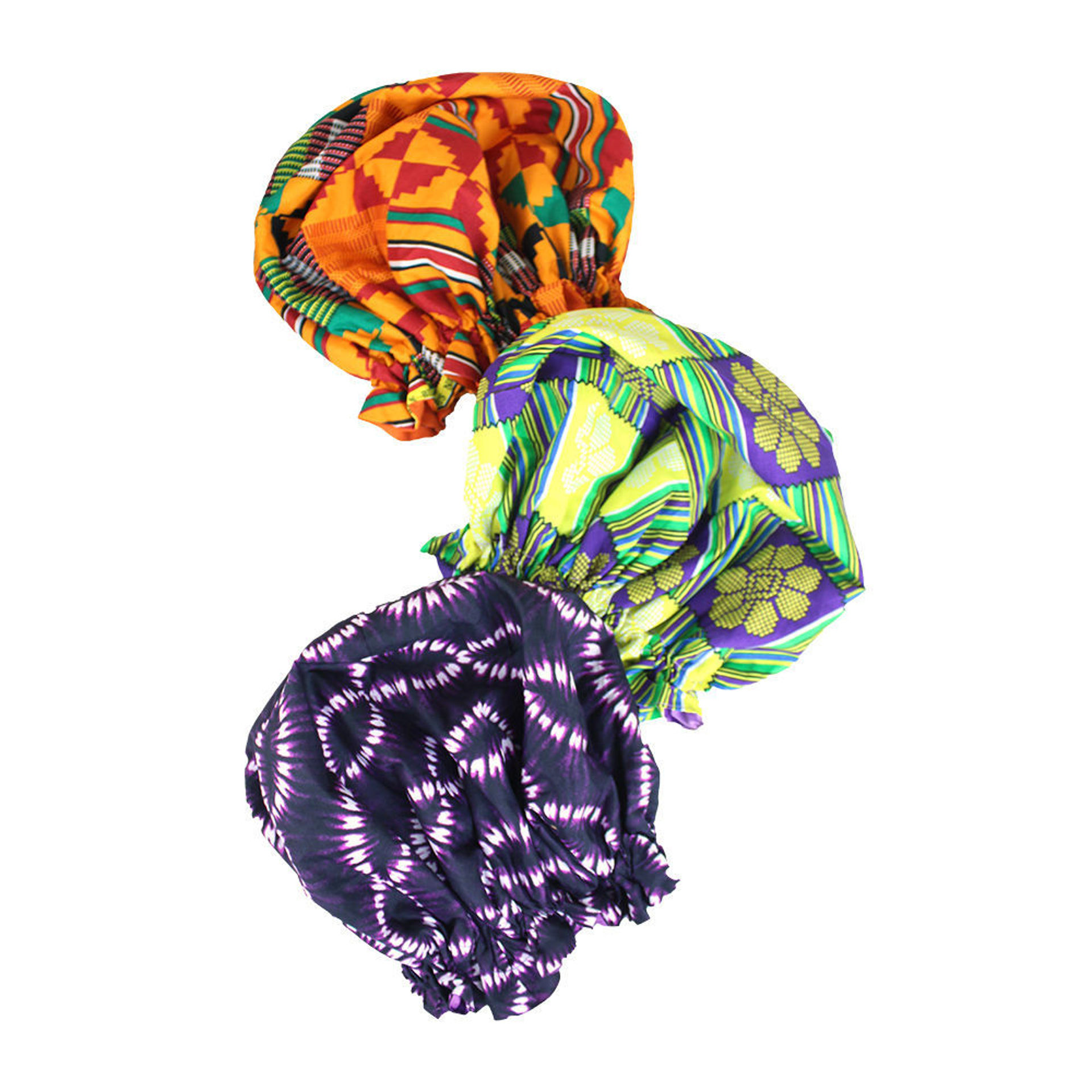 Picture of Set Of 3 ASSORTED Bonnets: LG
