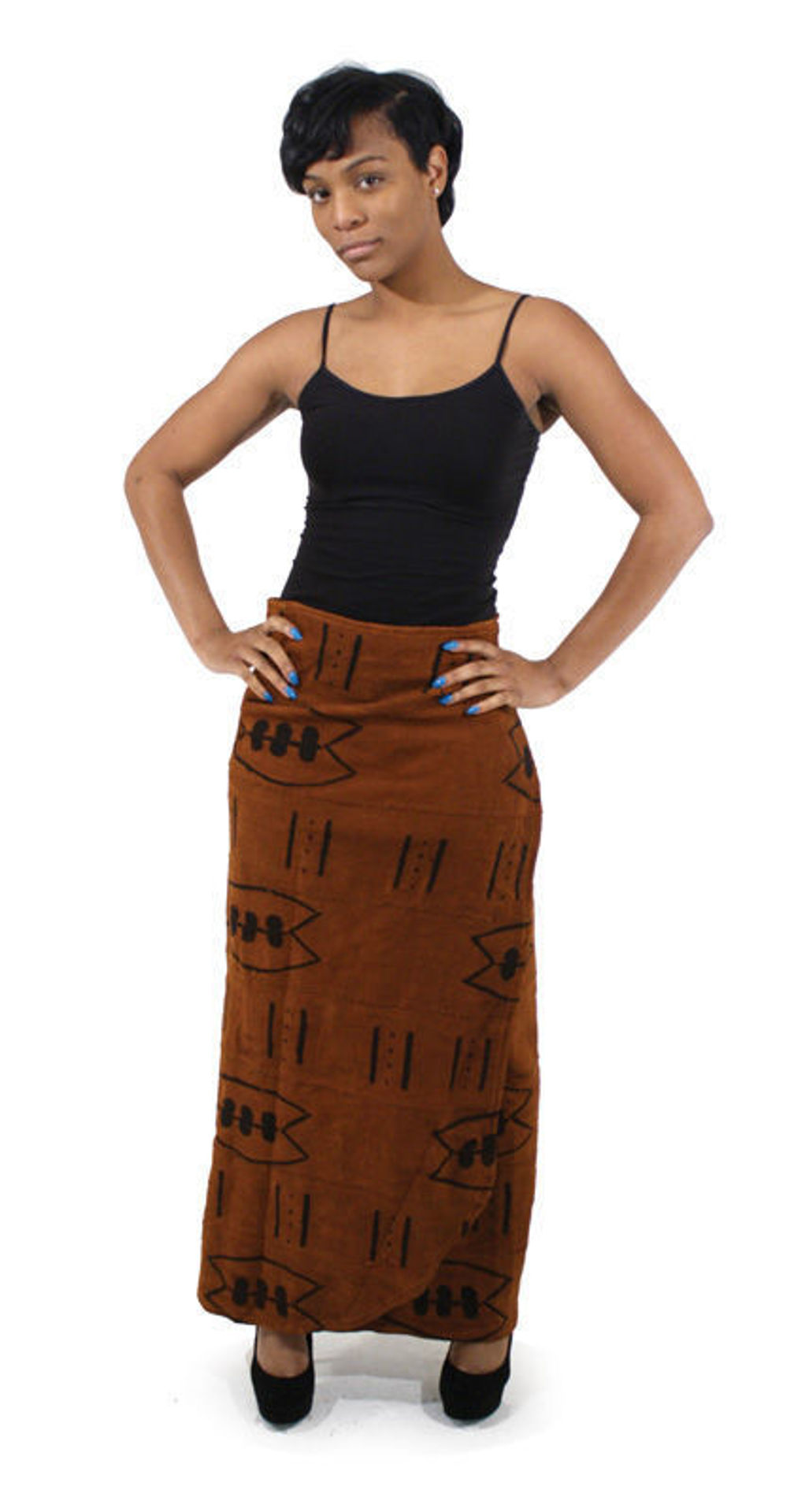 Picture of Mud Cloth Wrap Skirt