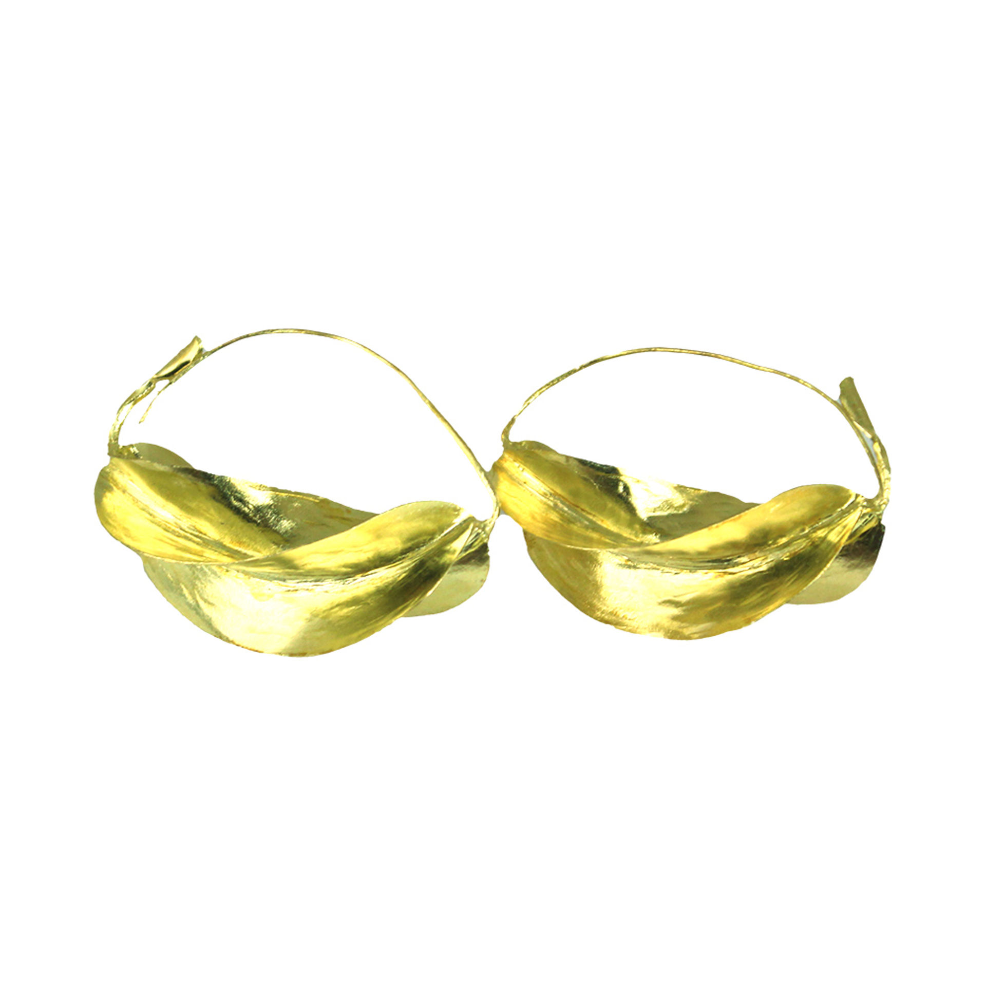"""Picture of Fula Gold  Earrings - 2½"""""""