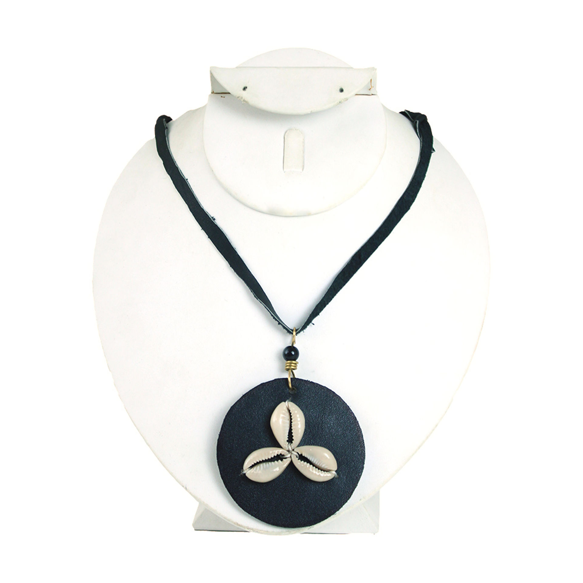 Picture of Leather Pendant Cowrie Shell Necklace