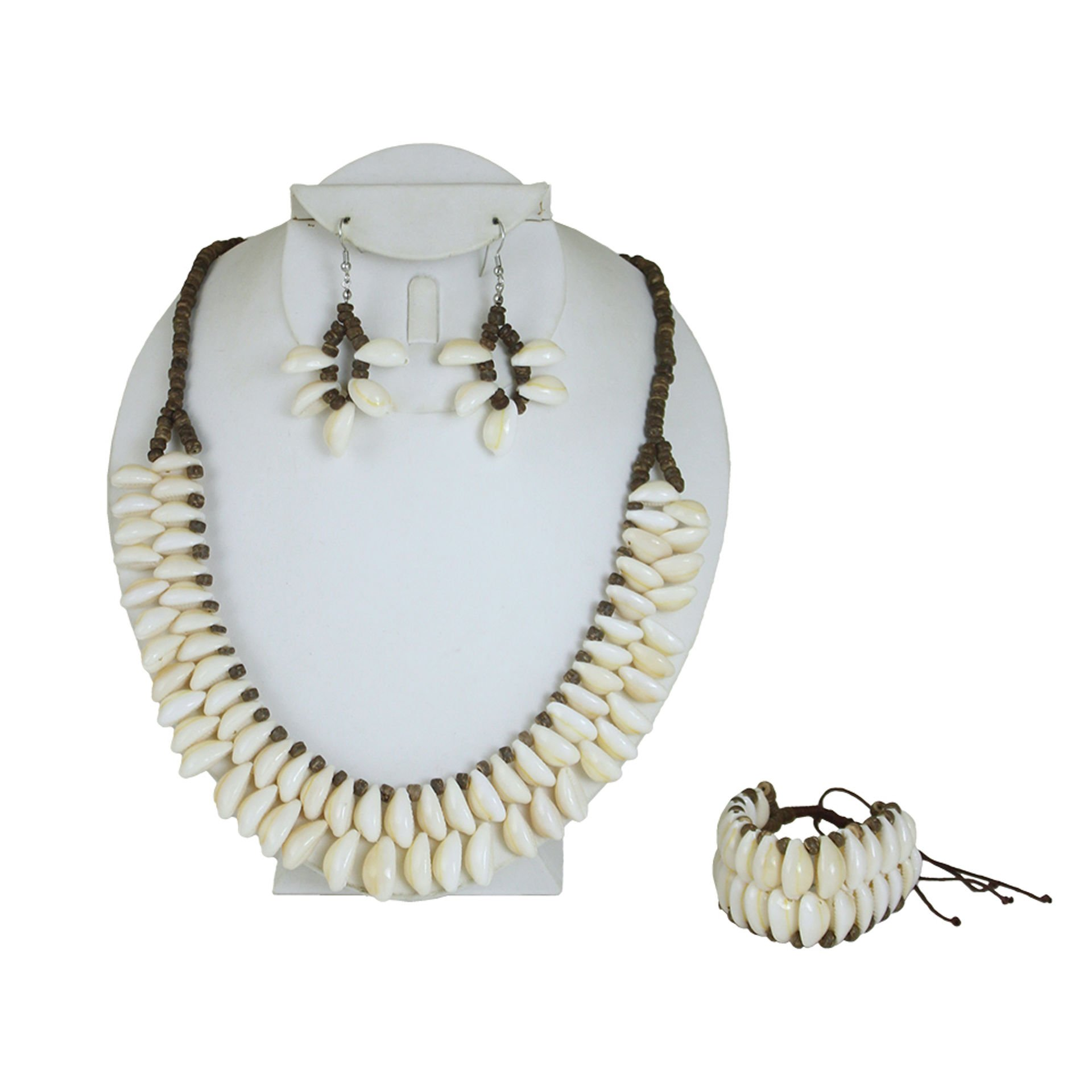 Picture of Coco Bead Cowrie Shell Necklace Set