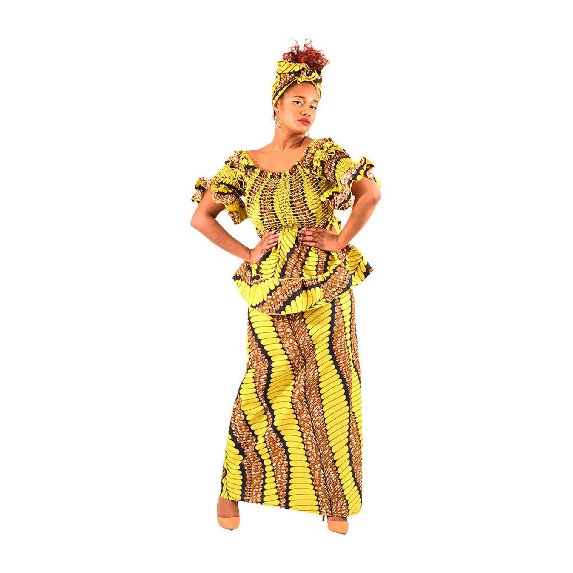 Picture of African Print Skirt Set: Print-A