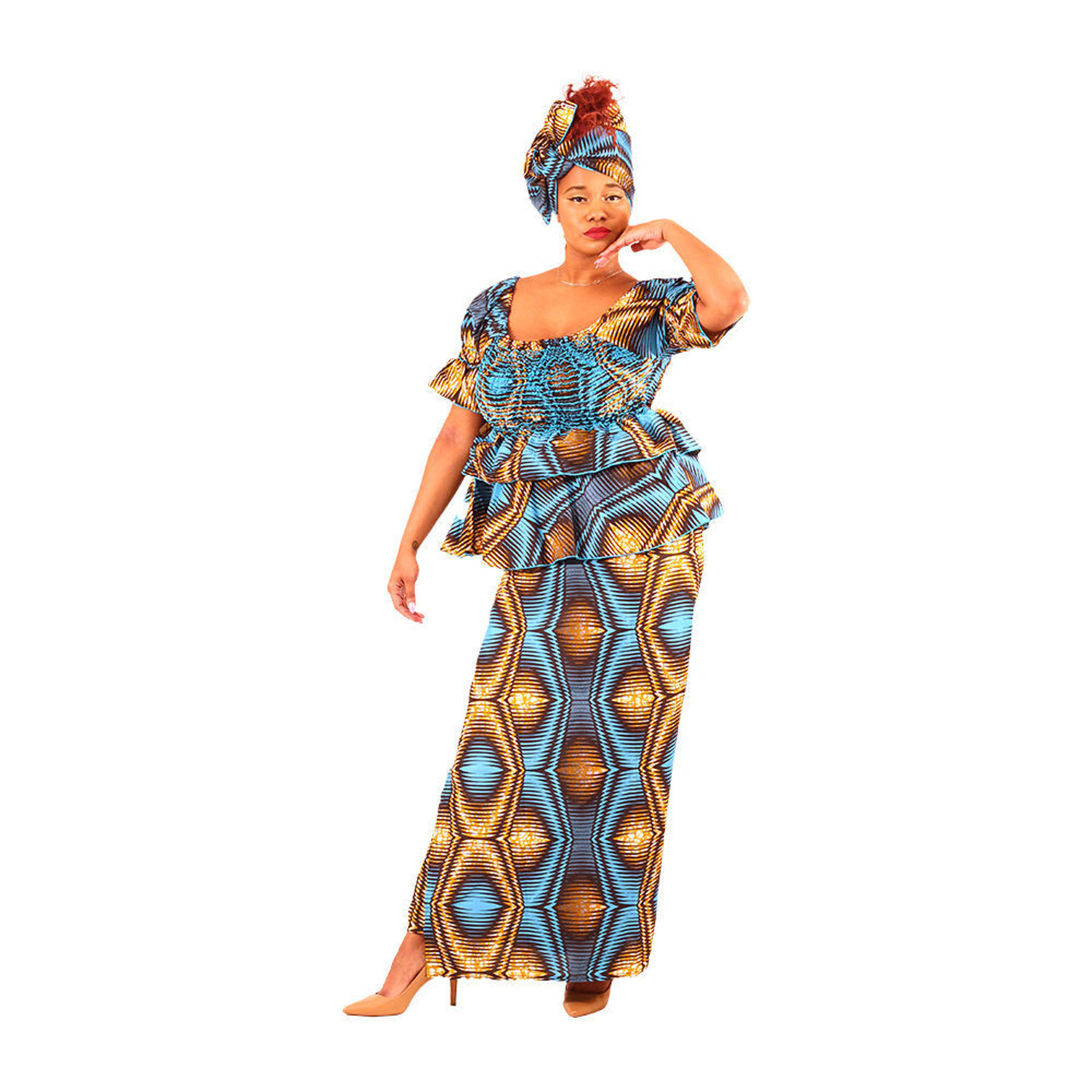 Picture of African Print Skirt Set: Print-B