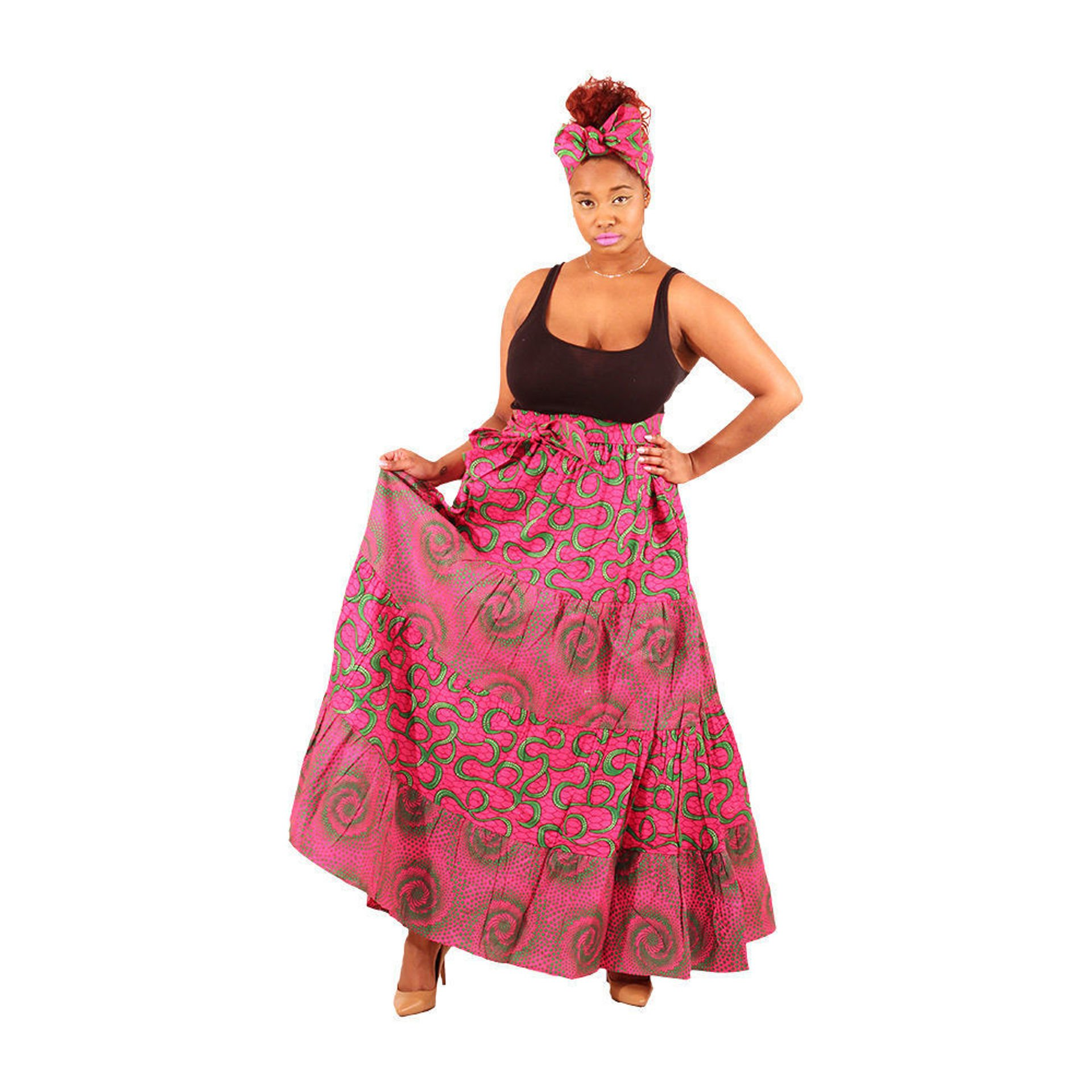 Picture of Pink African Print Mix-And-Match Skirt