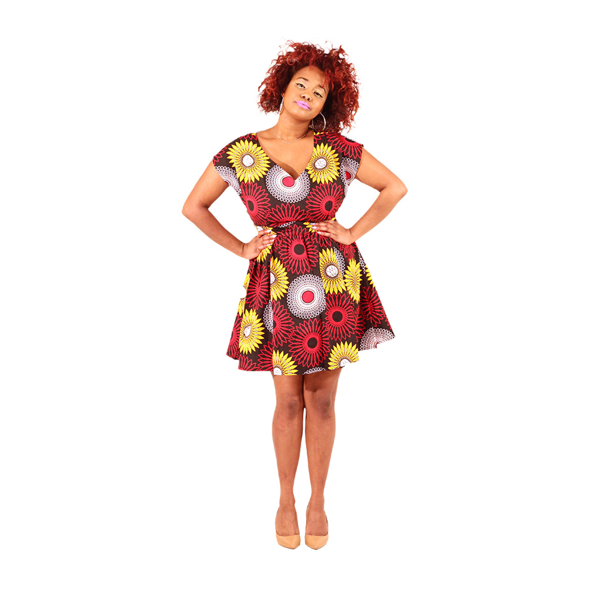 Picture of African Print Short Dress