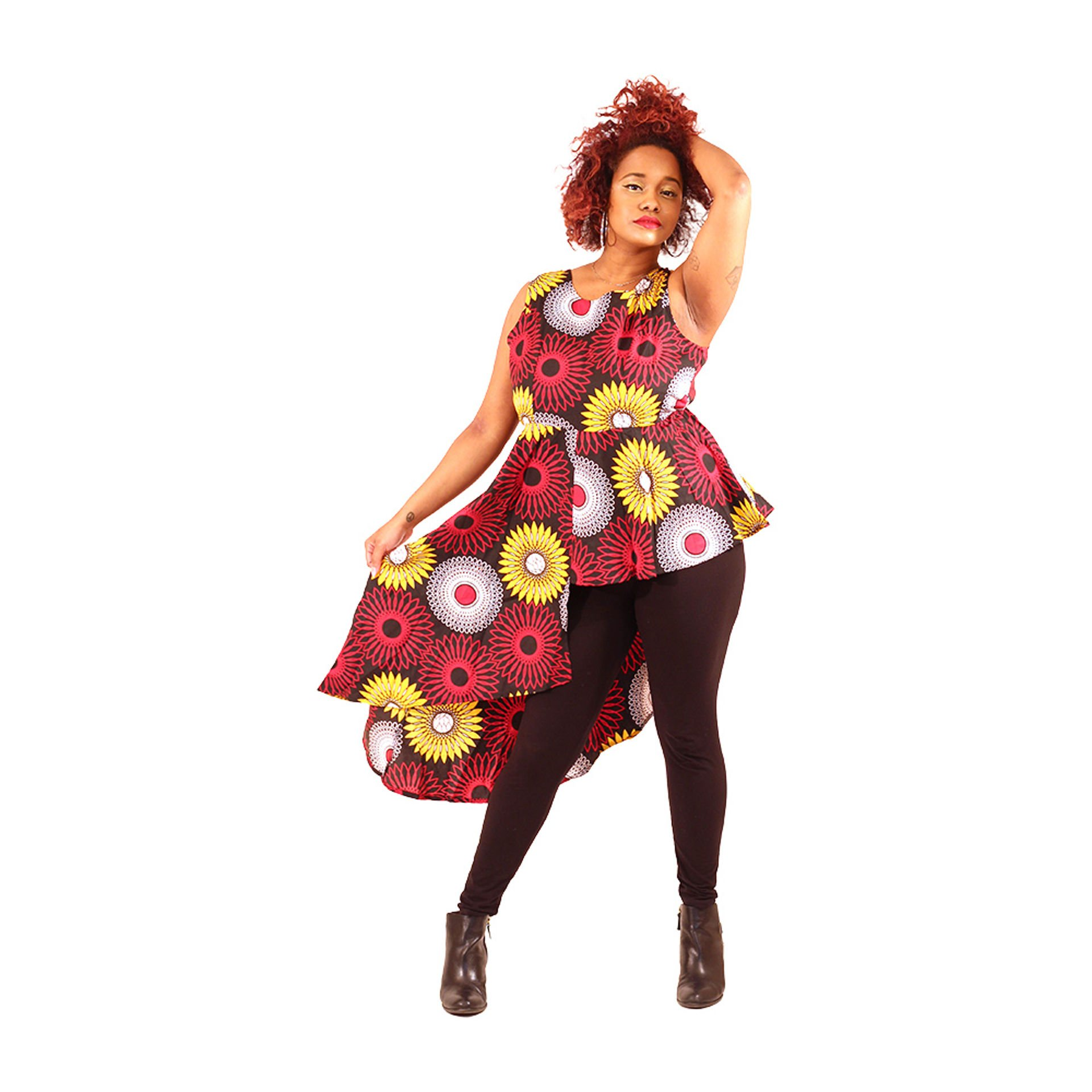 Picture of African Print Hi-Lo Top