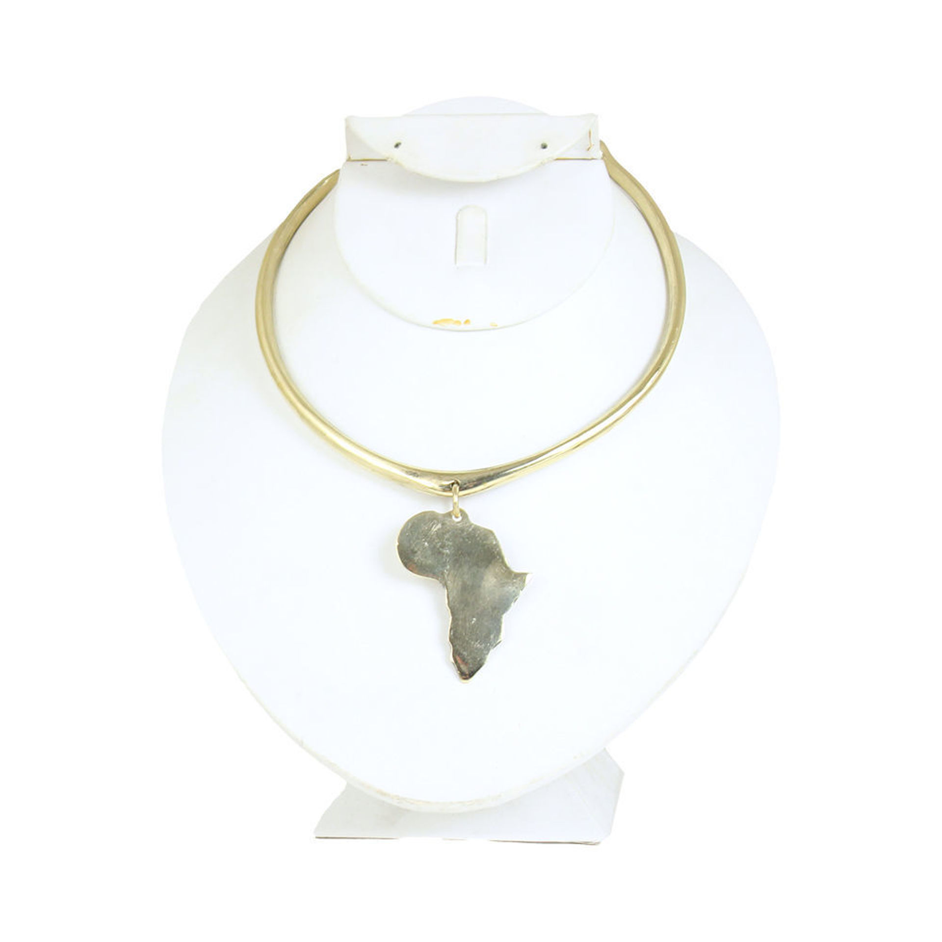 Picture of Golden Metal African Map Choker