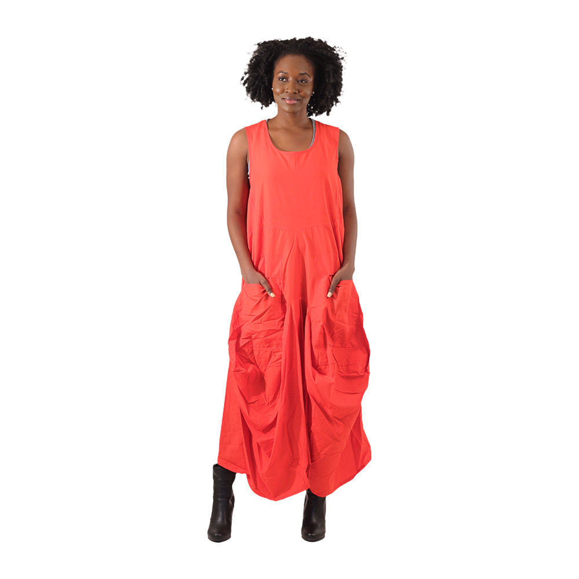Picture of Red Two-Pocket Dress