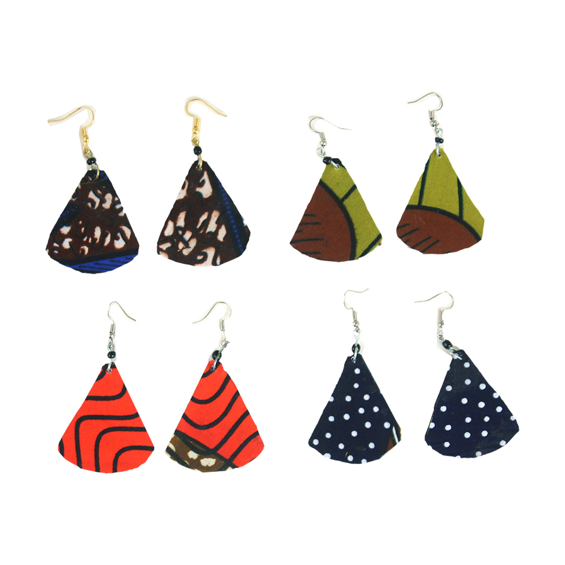 Picture of Set Of 4 ASSORTED Afrocentric Earrings