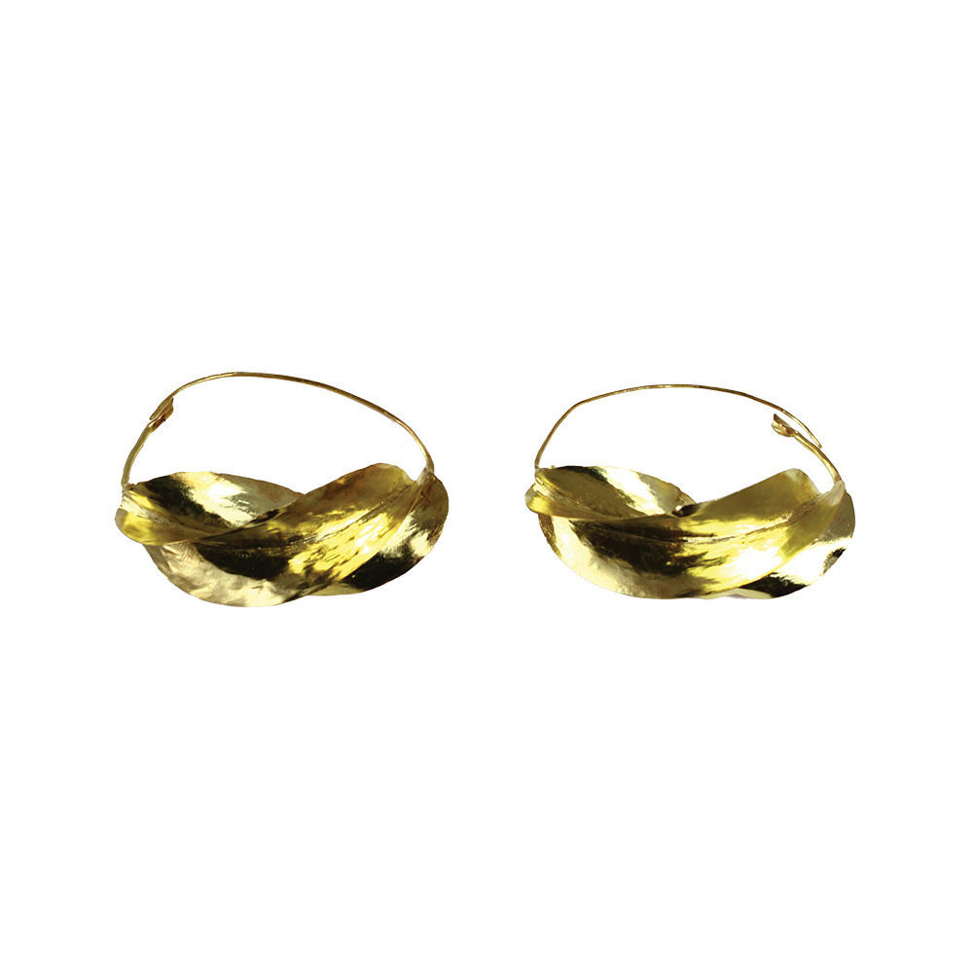 Picture of XL Over-Sized Fula Gold Earrings - 3""