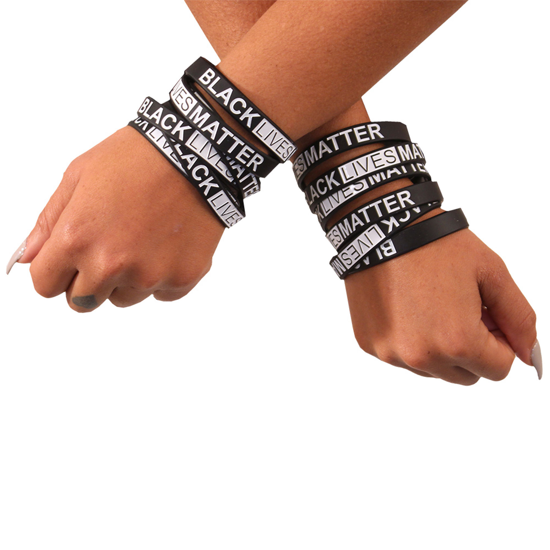 Picture of Set Of 12 Black Lives Matter Wristbands