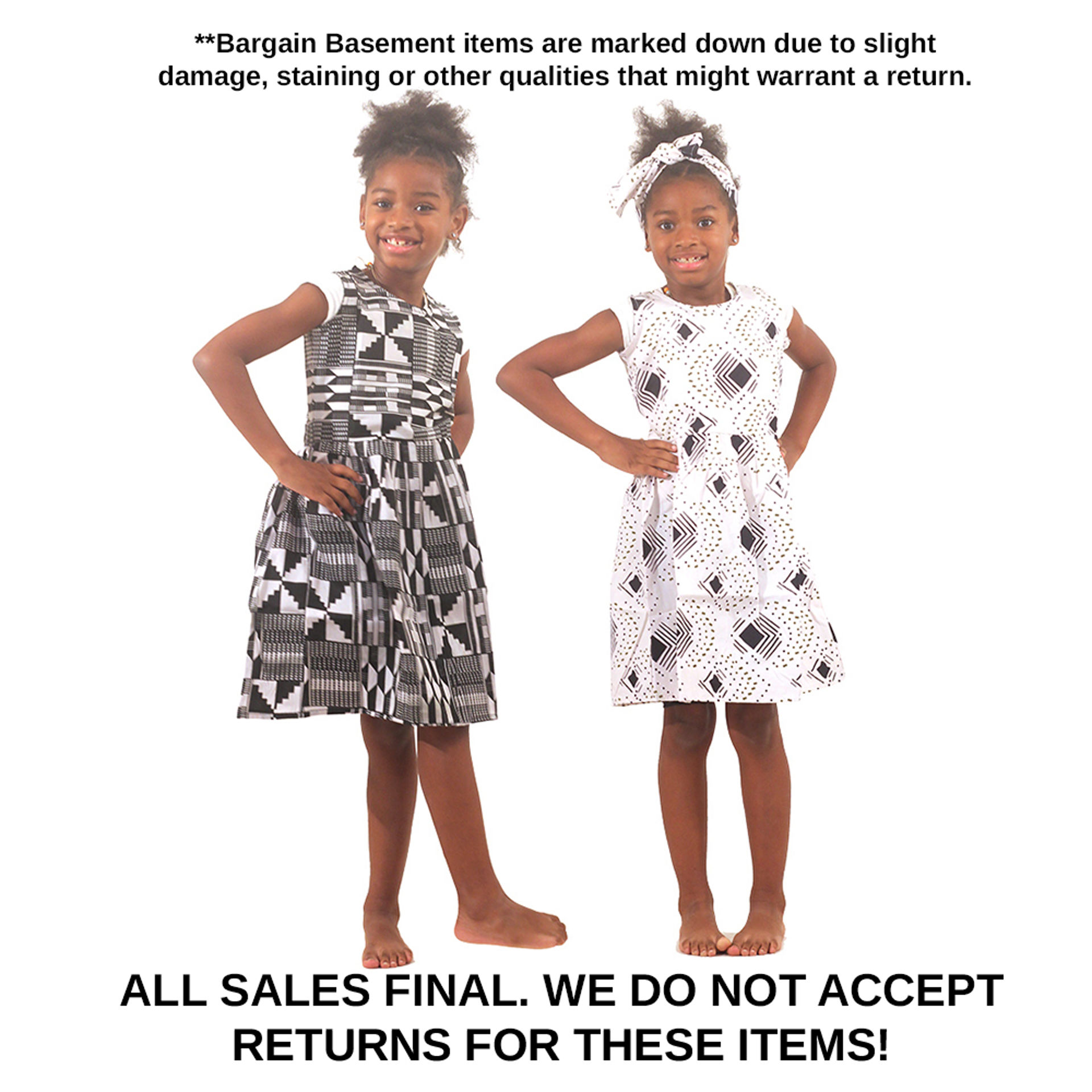 Picture of DAMAGED Set Of 3 Kids Dresses ASSORTED
