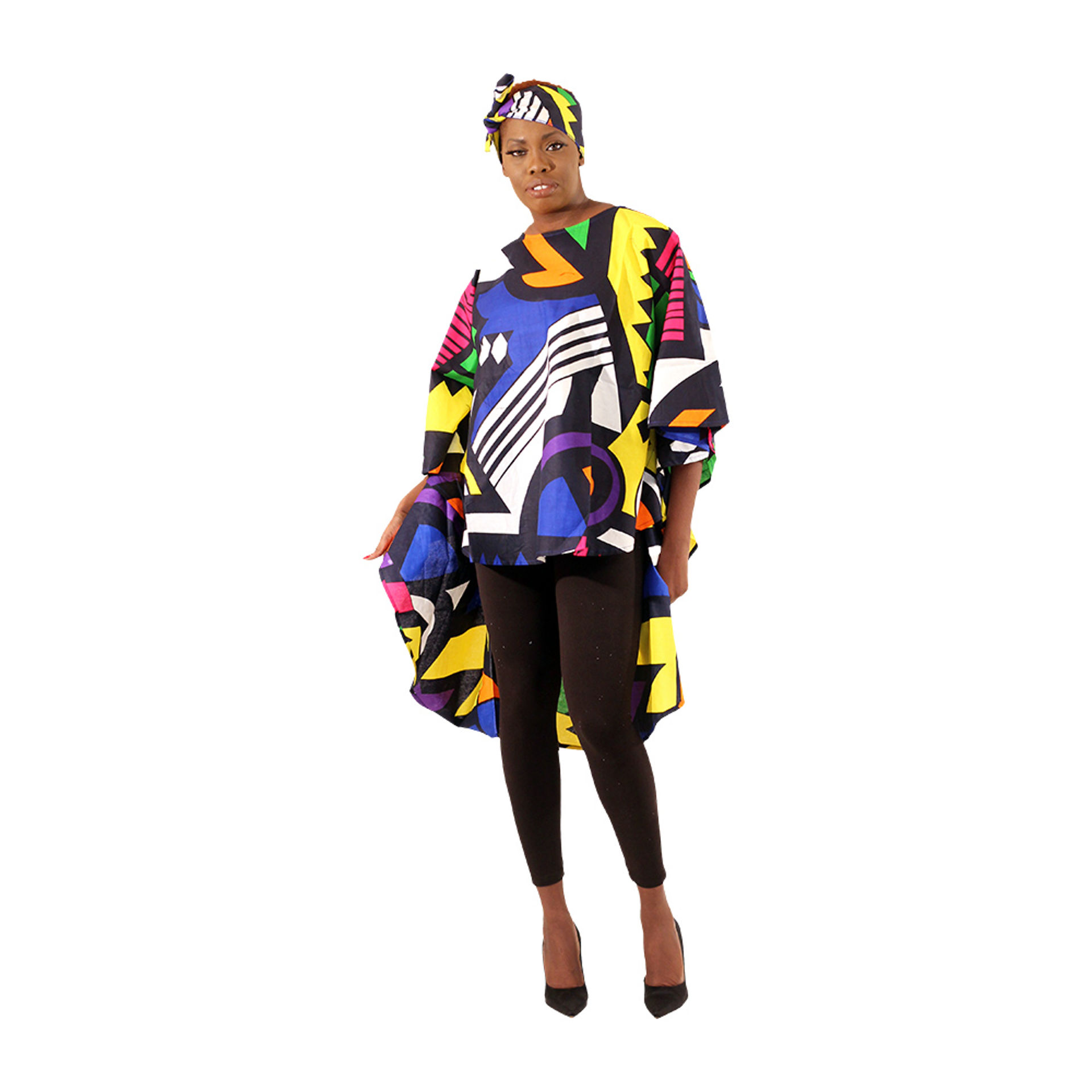Picture of Afrocentric Print Hi-Lo Top