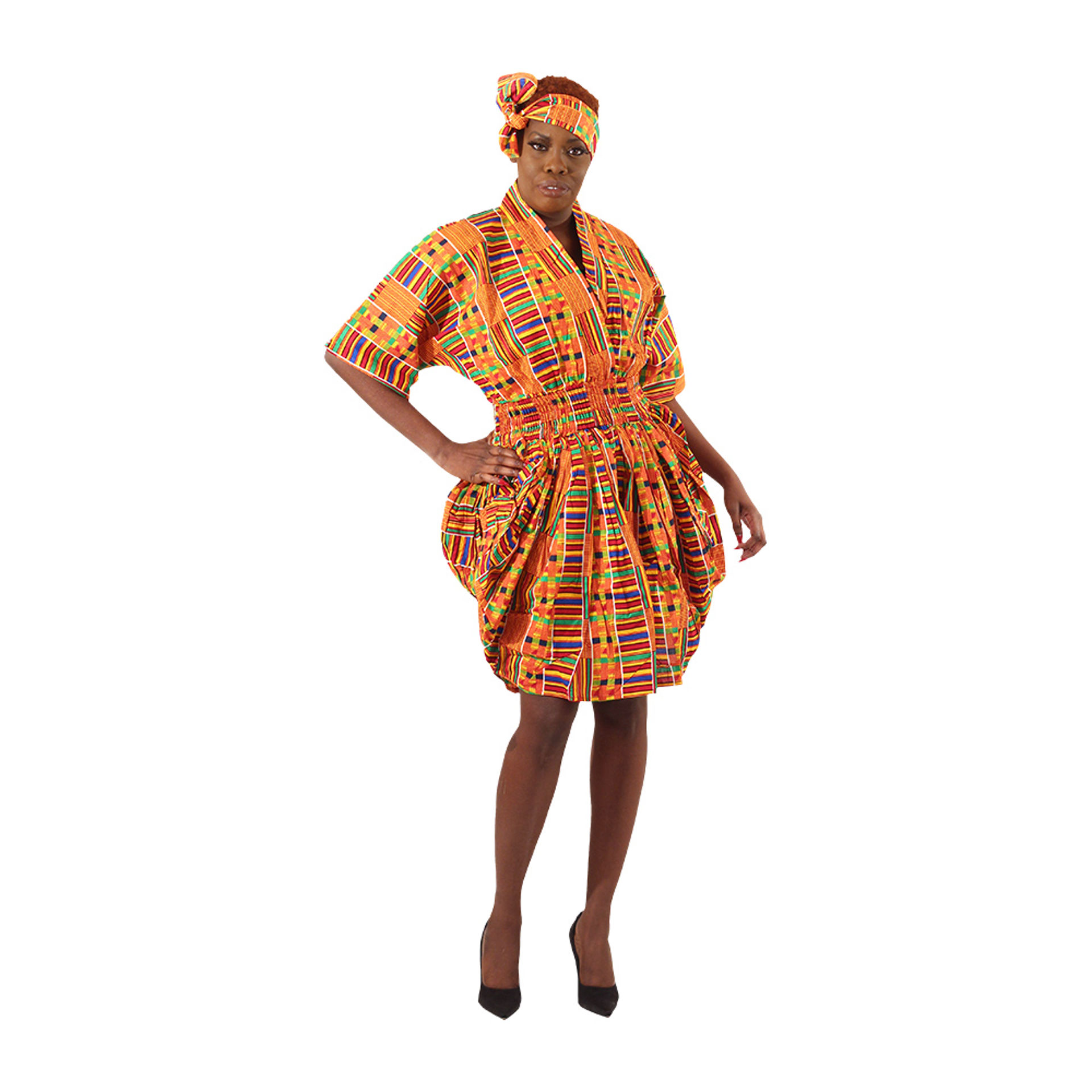 Picture of Smocked Dress - Kente #1
