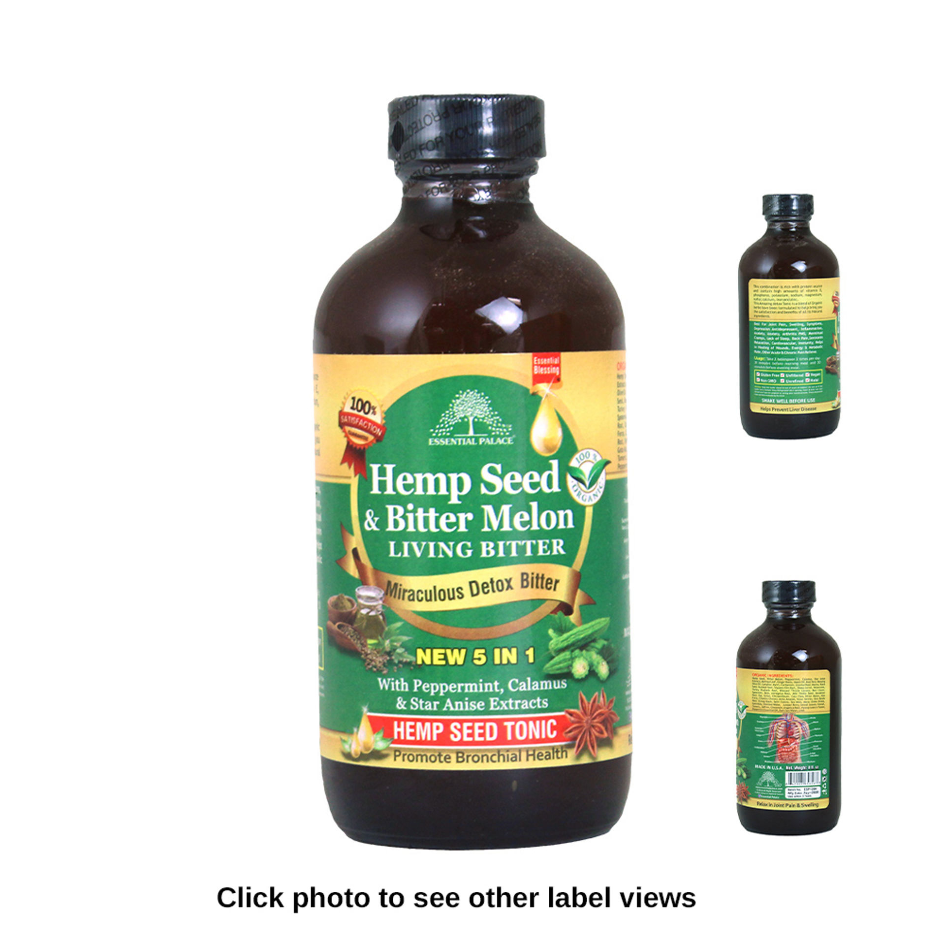 Picture of Hemp Seed & Melon Living Bitters - 8 oz.