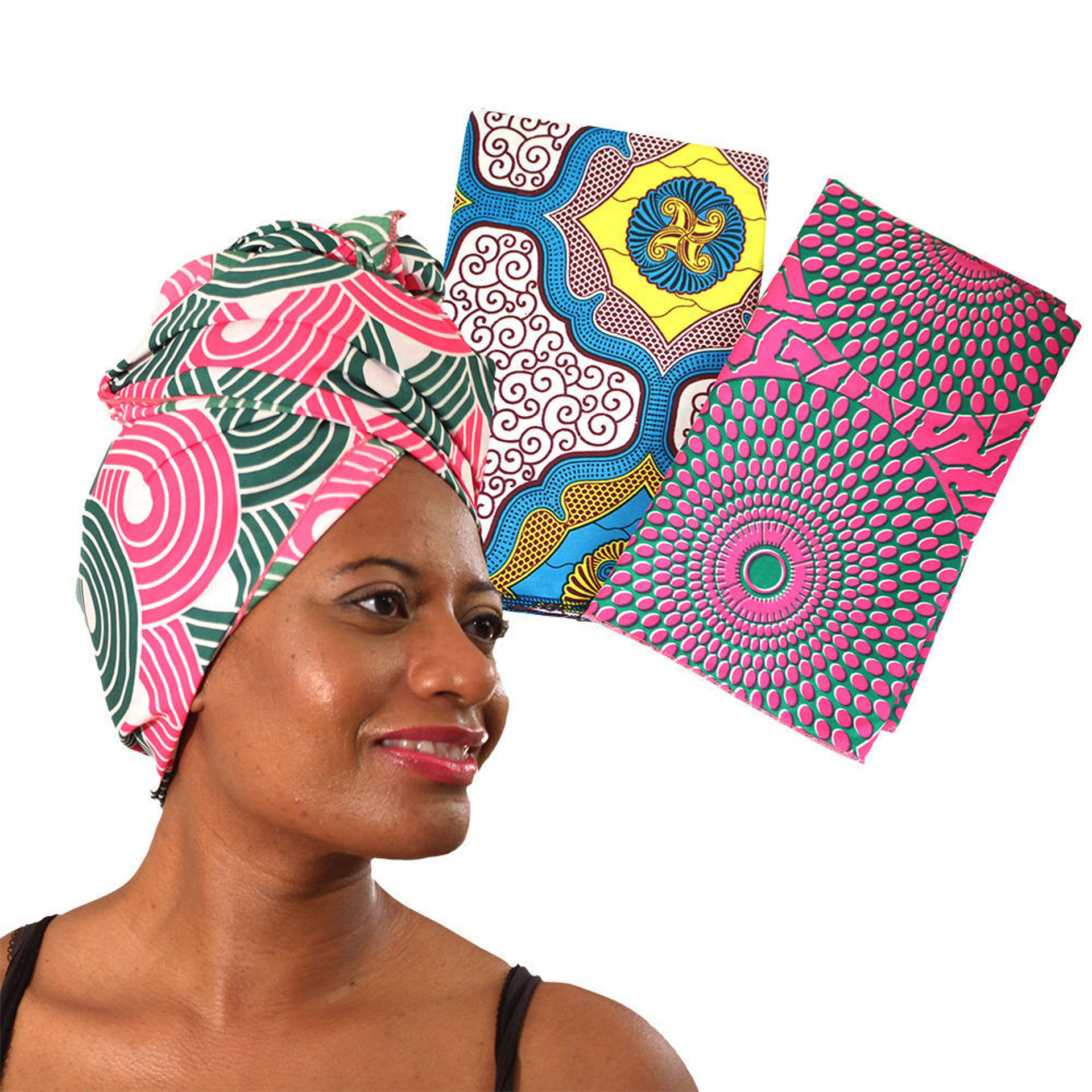 Picture of Set Of 3 African Print Headwraps