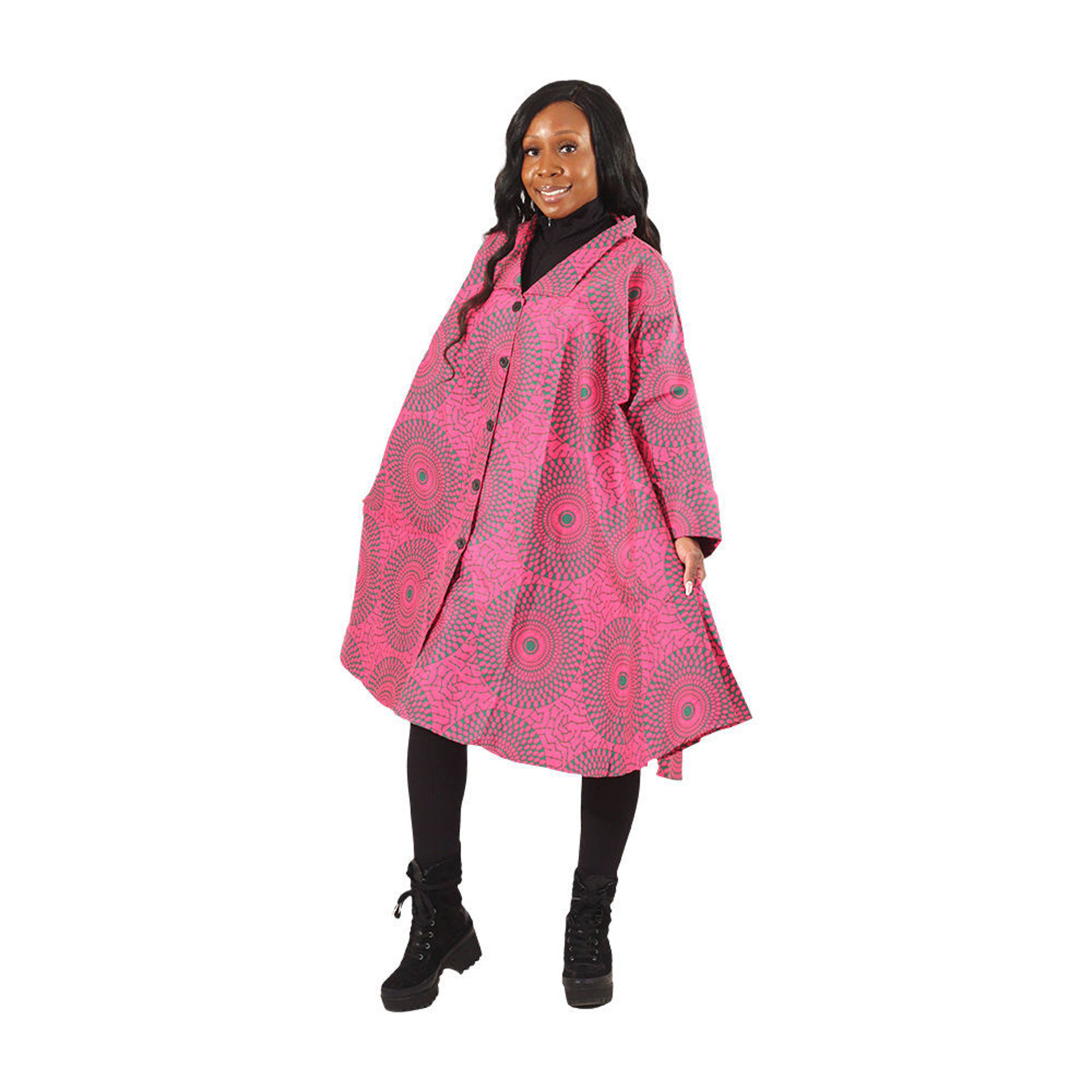 Picture of Pink Circle Print Smock