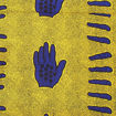 Picture of Blue Hand Print Fabric
