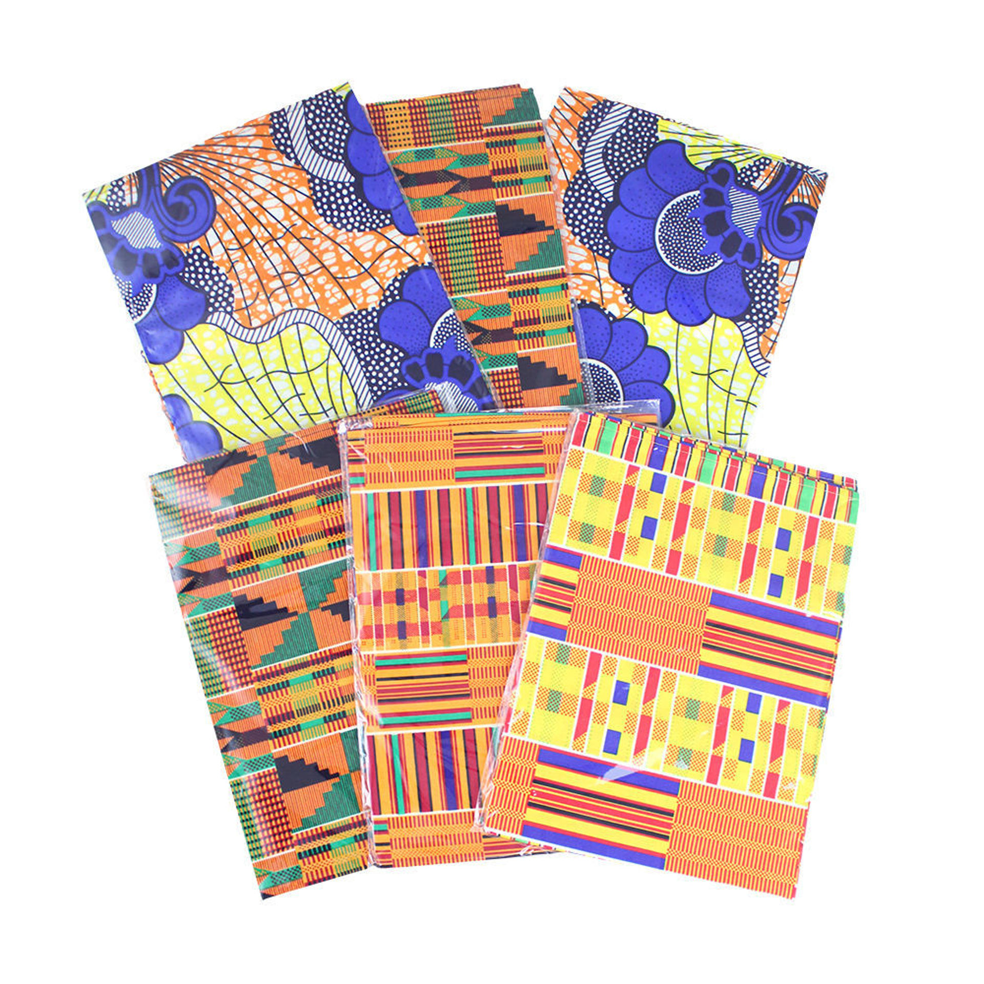 Picture of Set Of 6 African Print Head Wraps ASSRTD