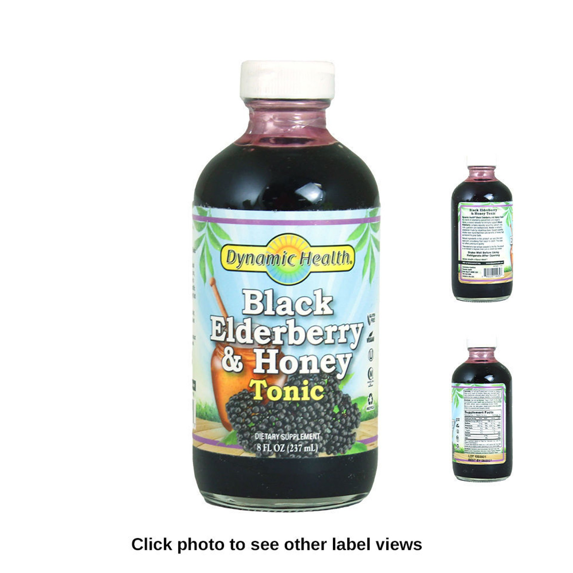 Picture of Black Elderberry & Honey Tonic - 8 oz.