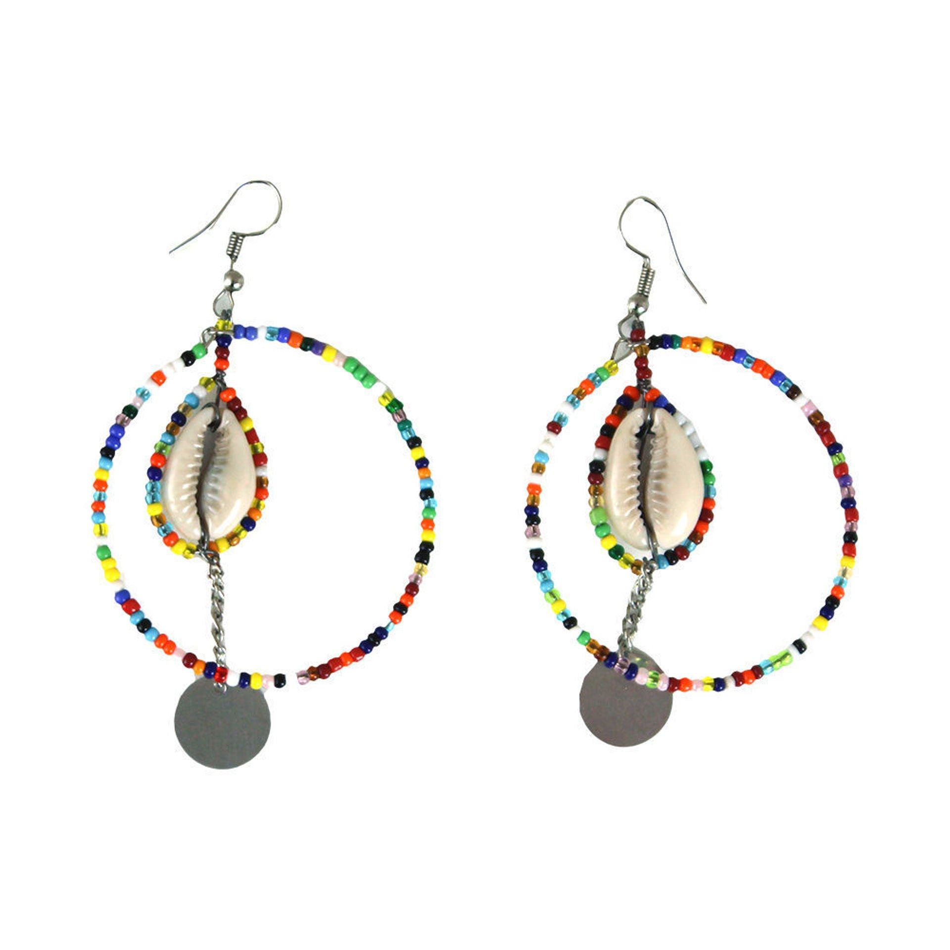 Picture of Maasai Round Cowrie Shell Earrings