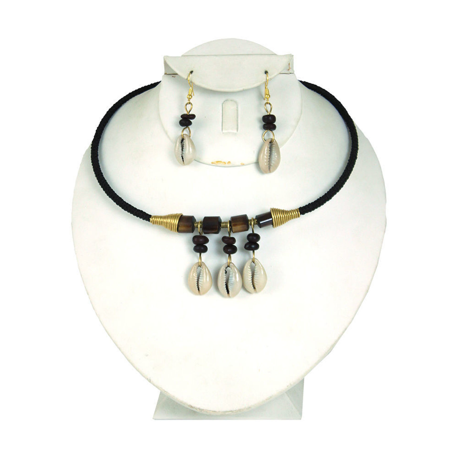 Picture of Kenyan Cowrie Shell Choker & Earring Set