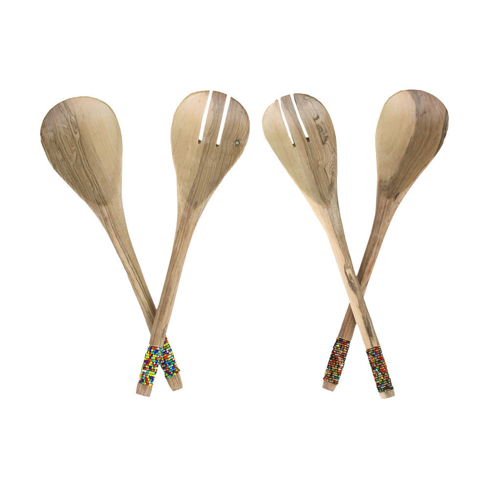 Picture of Wooden Beaded Salad Set - ASSORTED