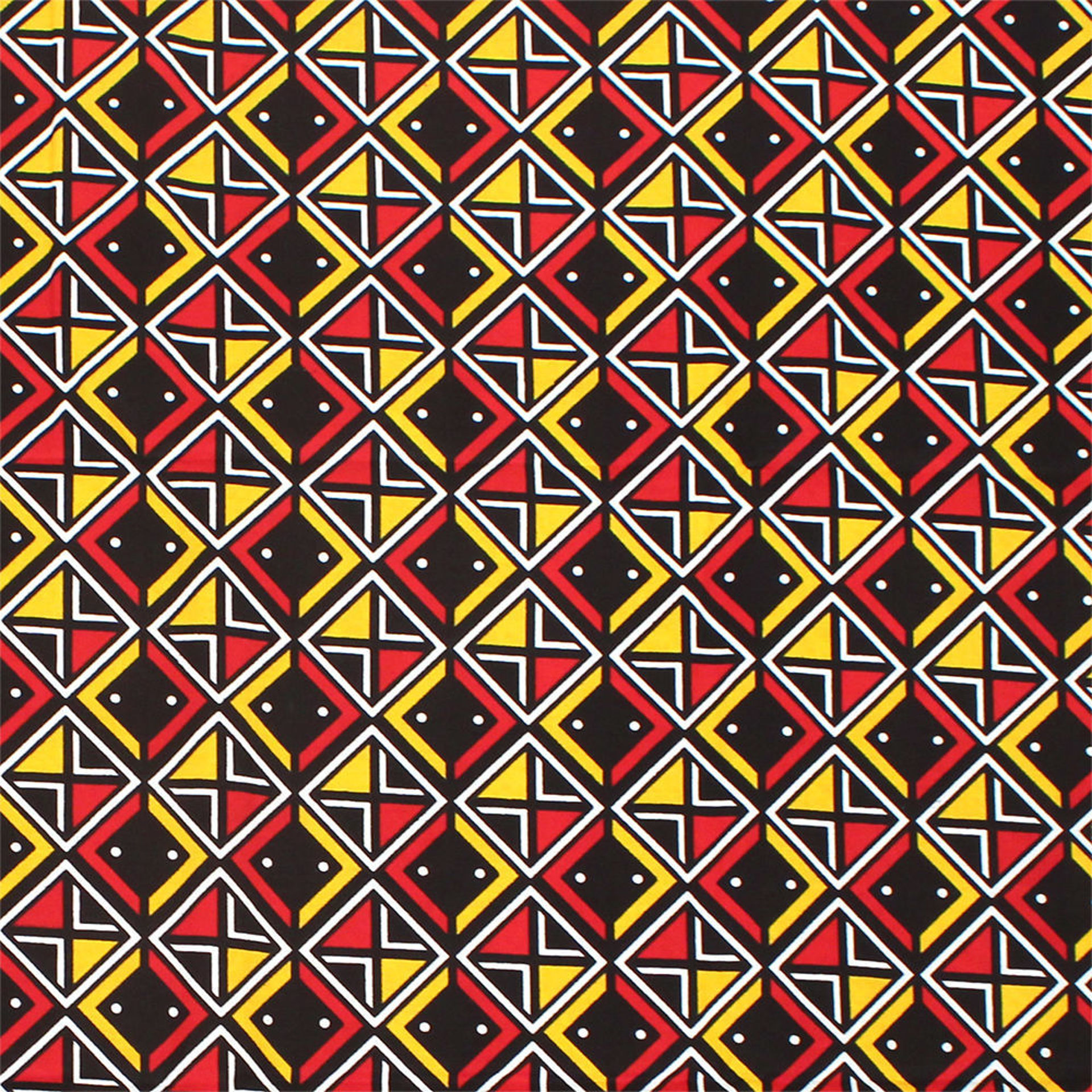 Picture of African Print Red/White/Yellow Fabric