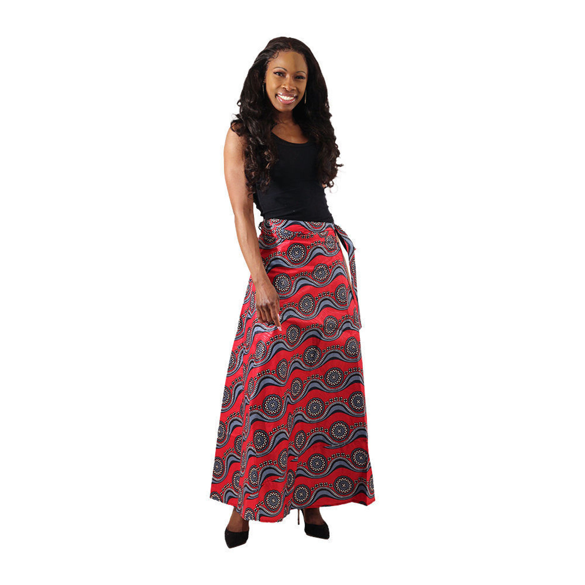 Picture of African Print Wrap Skirt