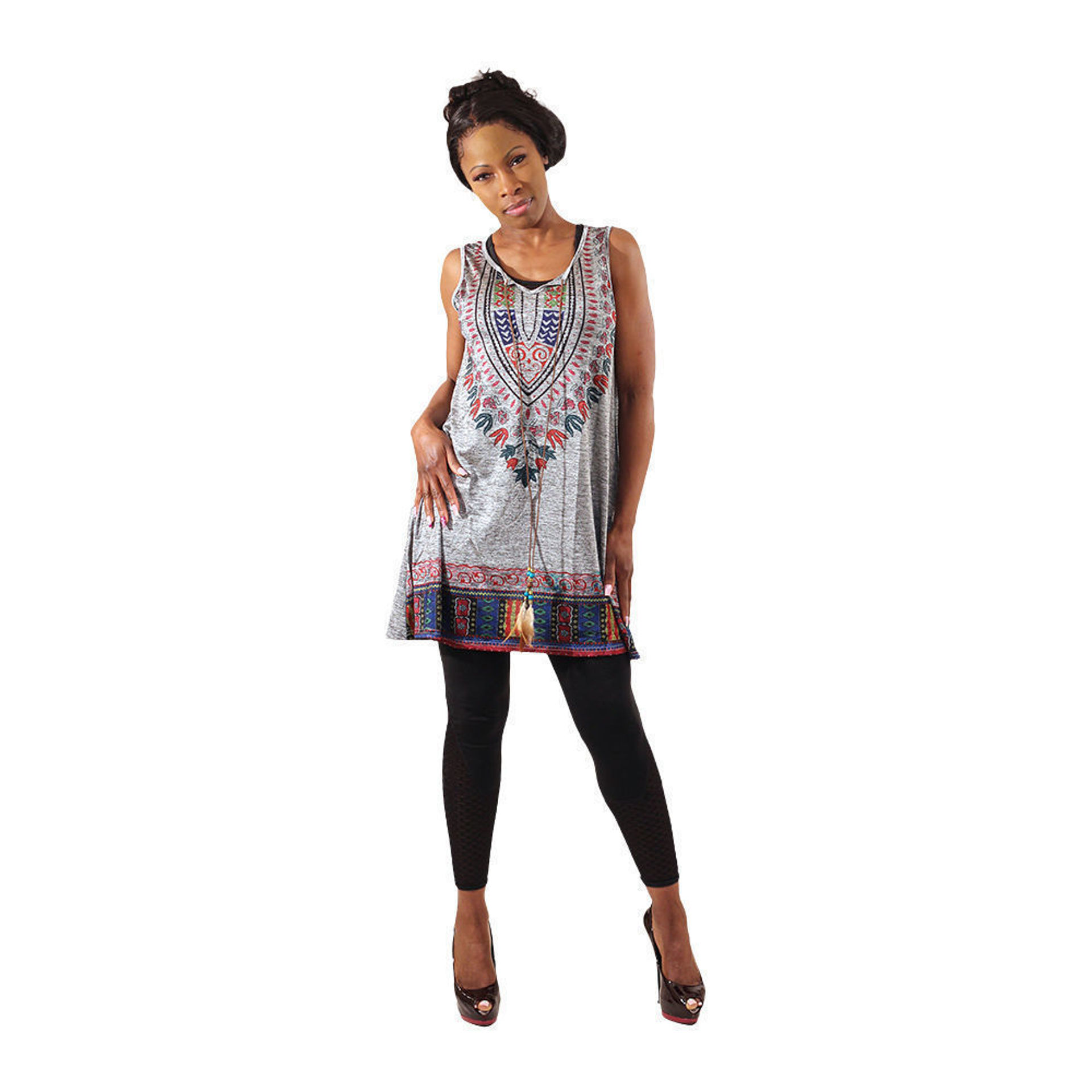 Picture of Traditional Print Tank Top