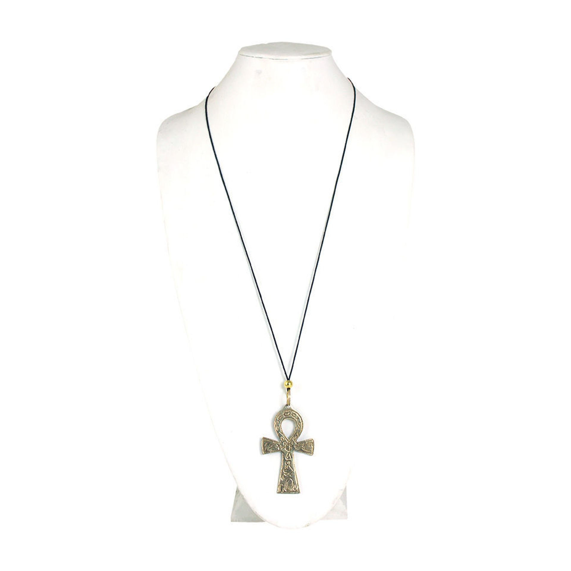 "Picture of Gold Ankh Necklace: Large (3"")"