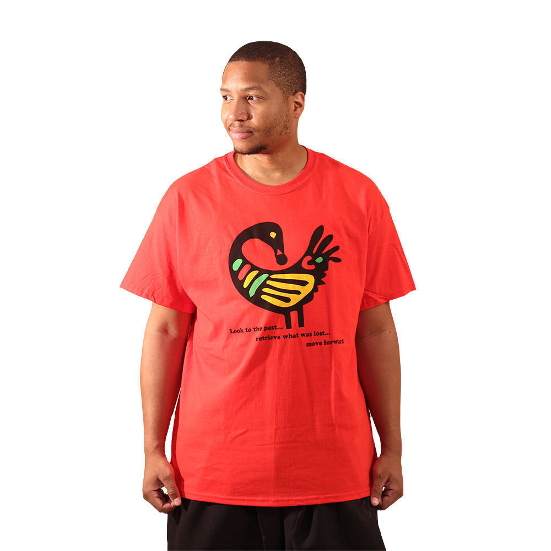 Picture of Red Sankofa T-Shirt