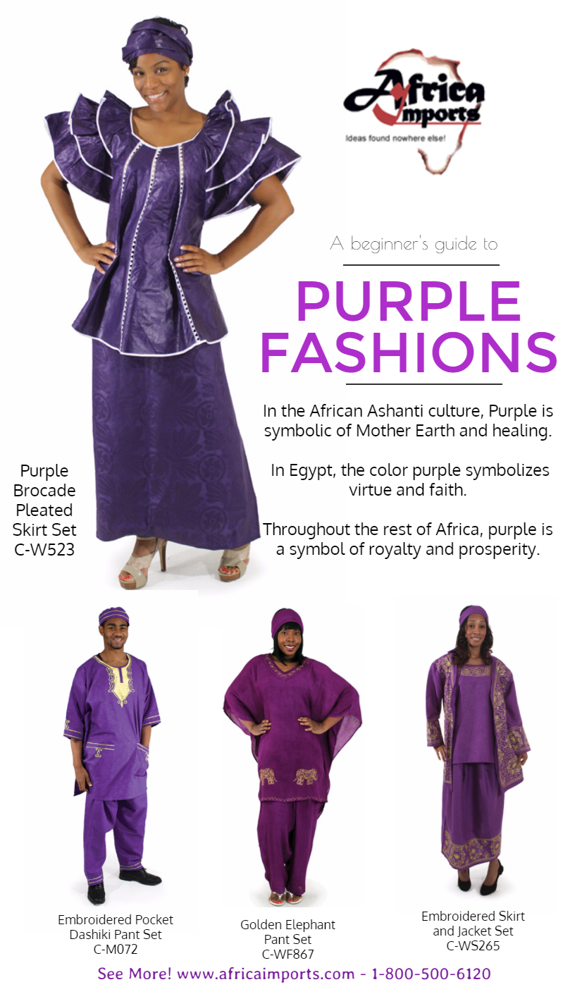 Purple African Fashions