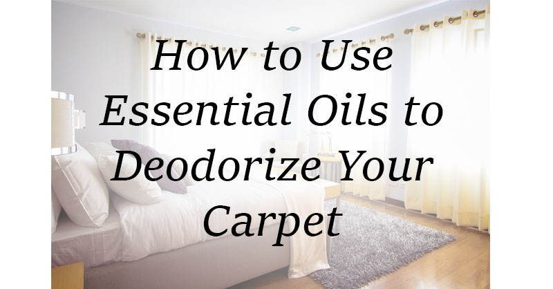 How to use essential oils to deodorize your carpet