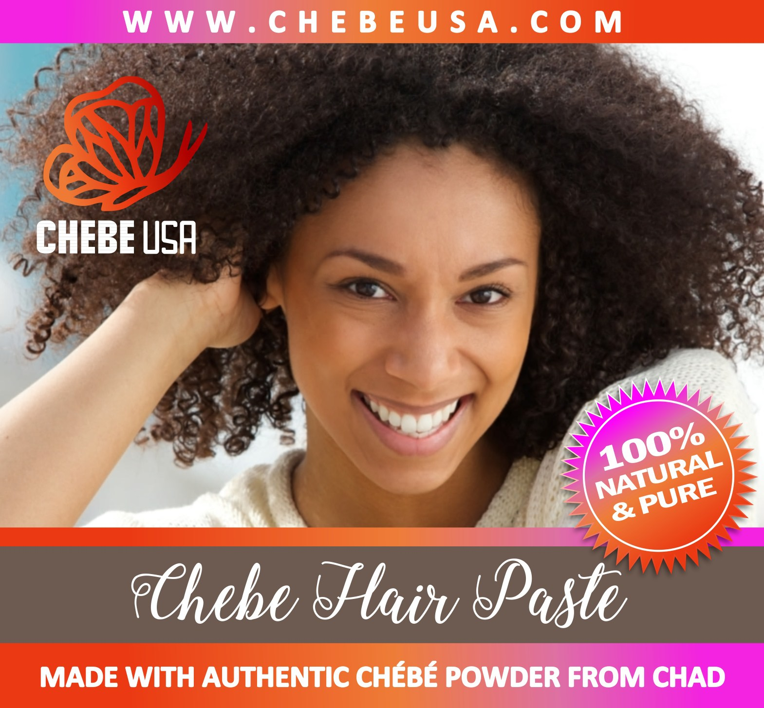 chebe hair paste label